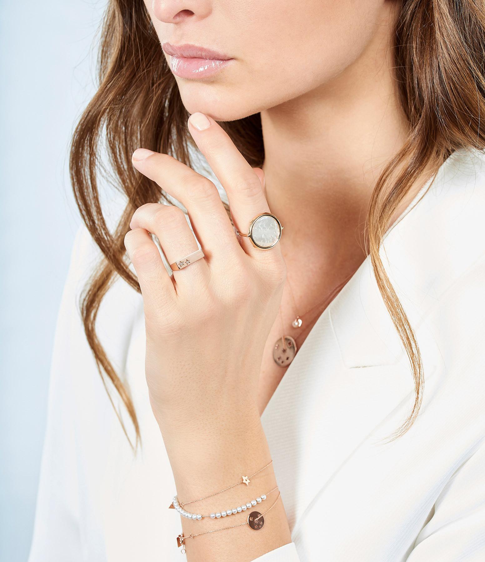 GINETTE_NY - Bracelet Maria Or Rose Perle