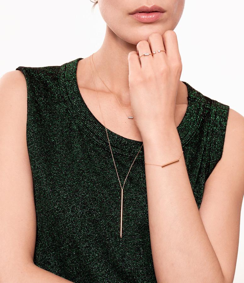 Collier Mini Straw Diamond - GINETTE_NY