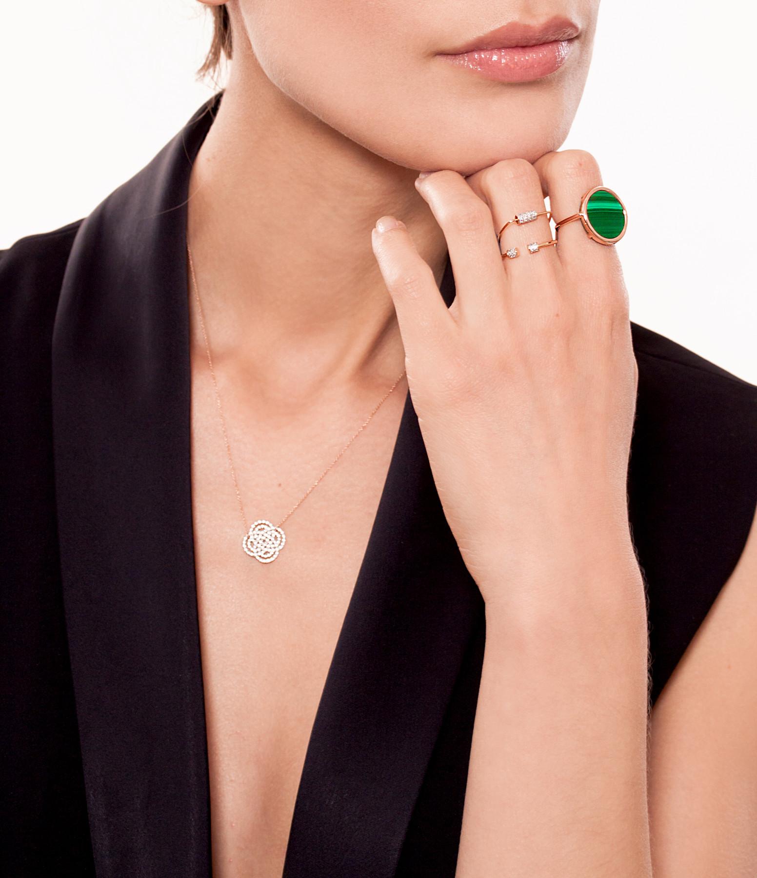 Bague Single Diamond Choker - GINETTE_NY