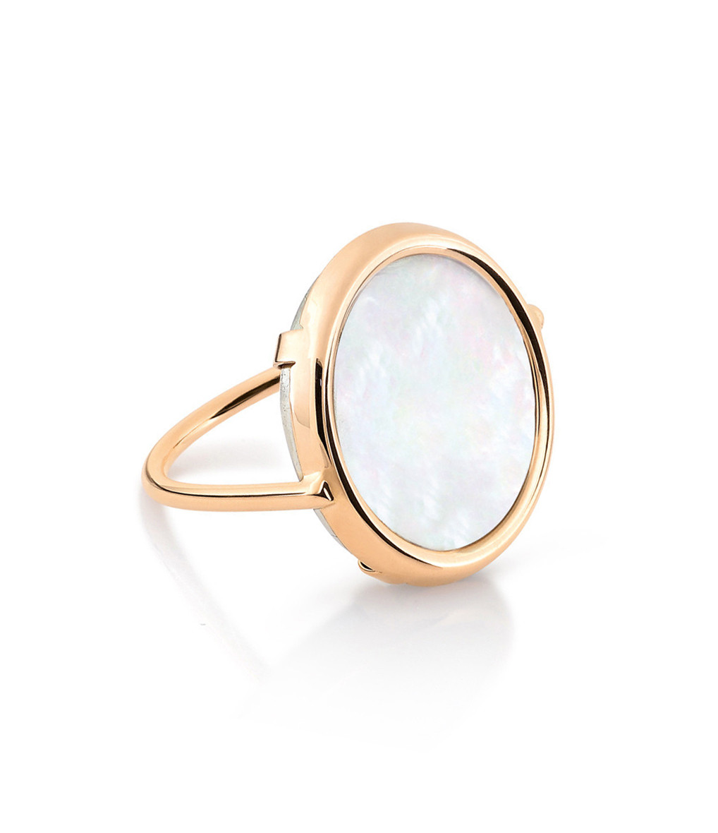 Bague Disc Mother of Pearl - Ginette-ny