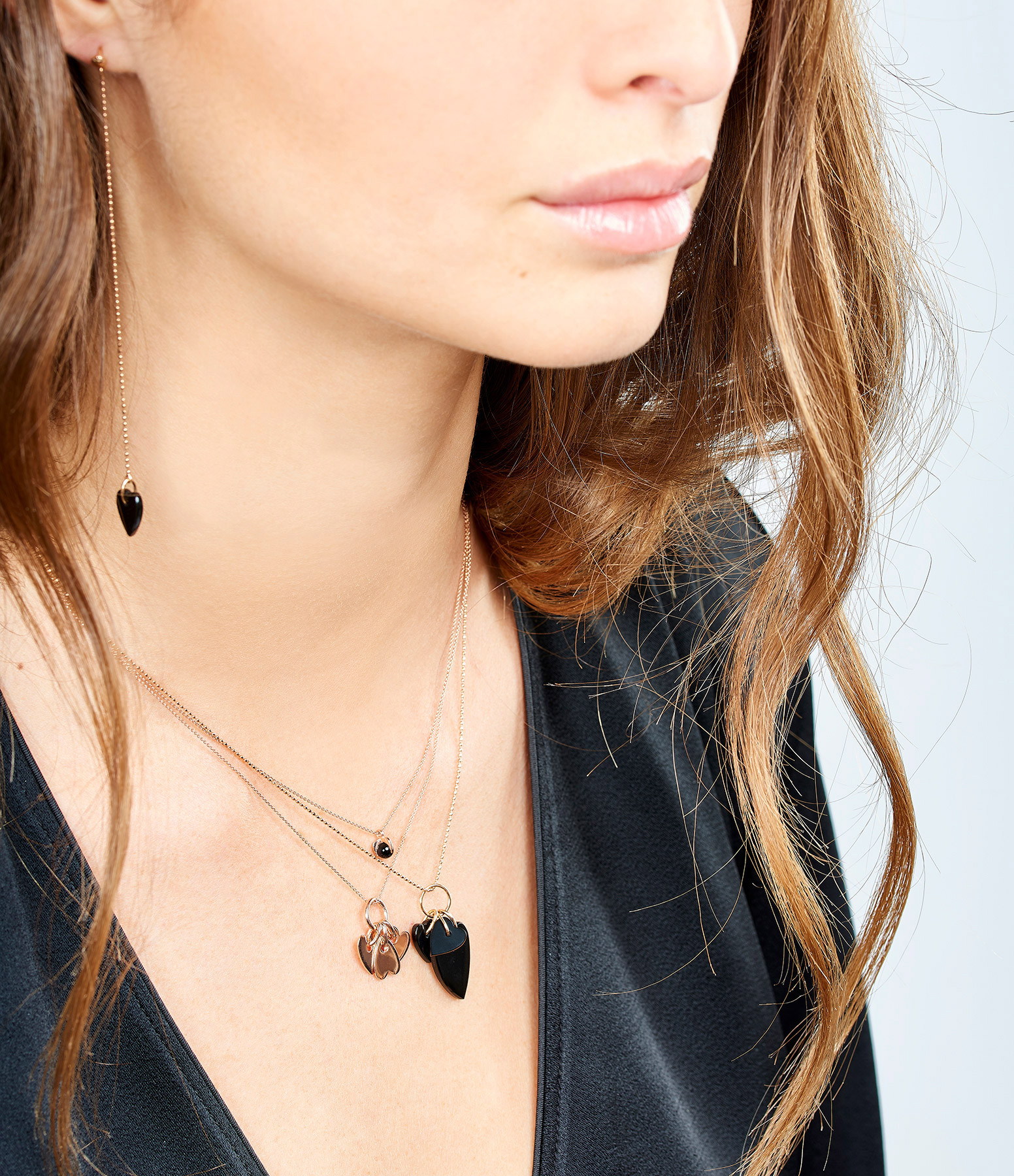 GINETTE_NY - Collier Angèle 3 Mini Coeurs