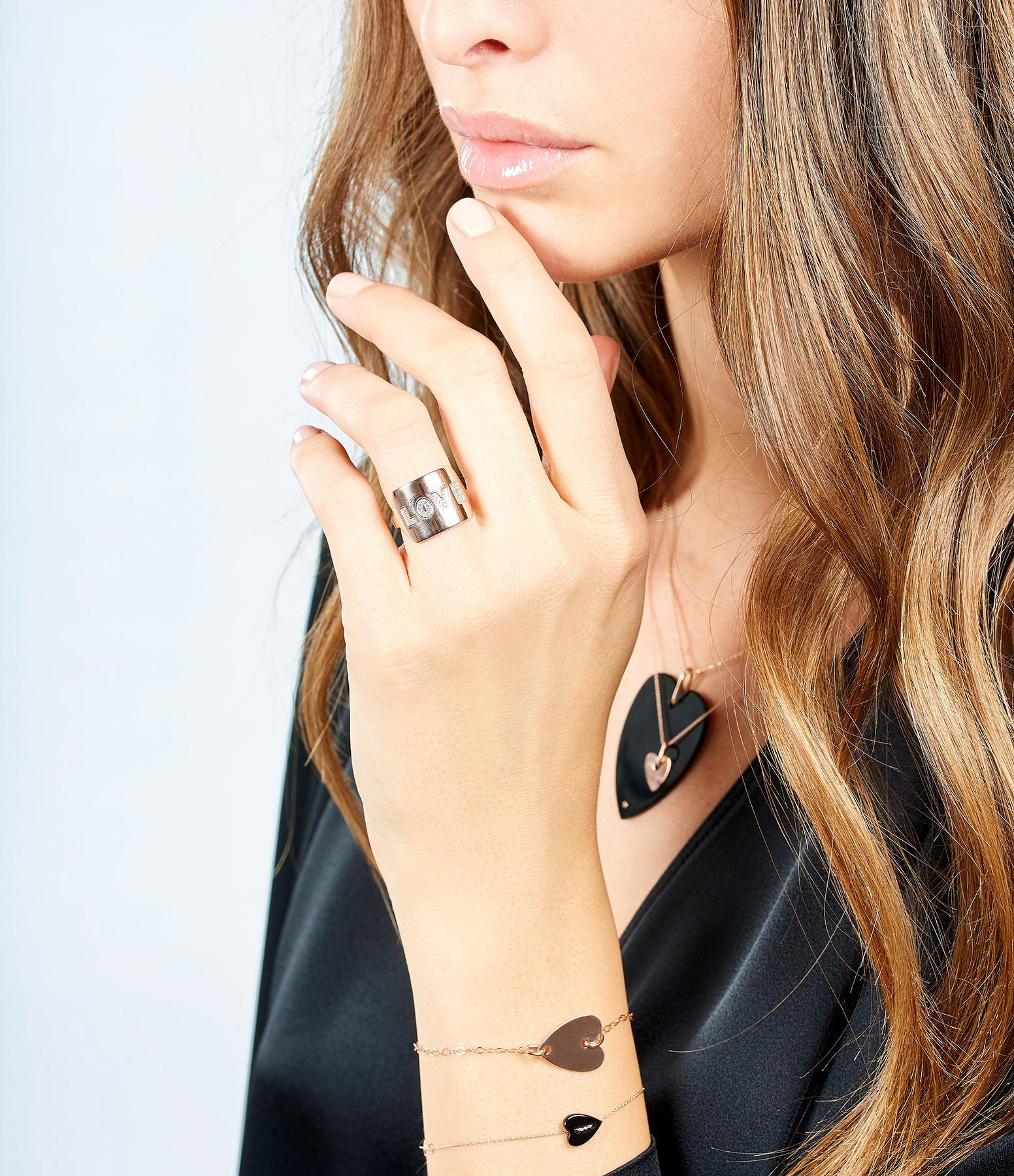 GINETTE_NY - Bracelet Angèle Mini Coeur Onyx