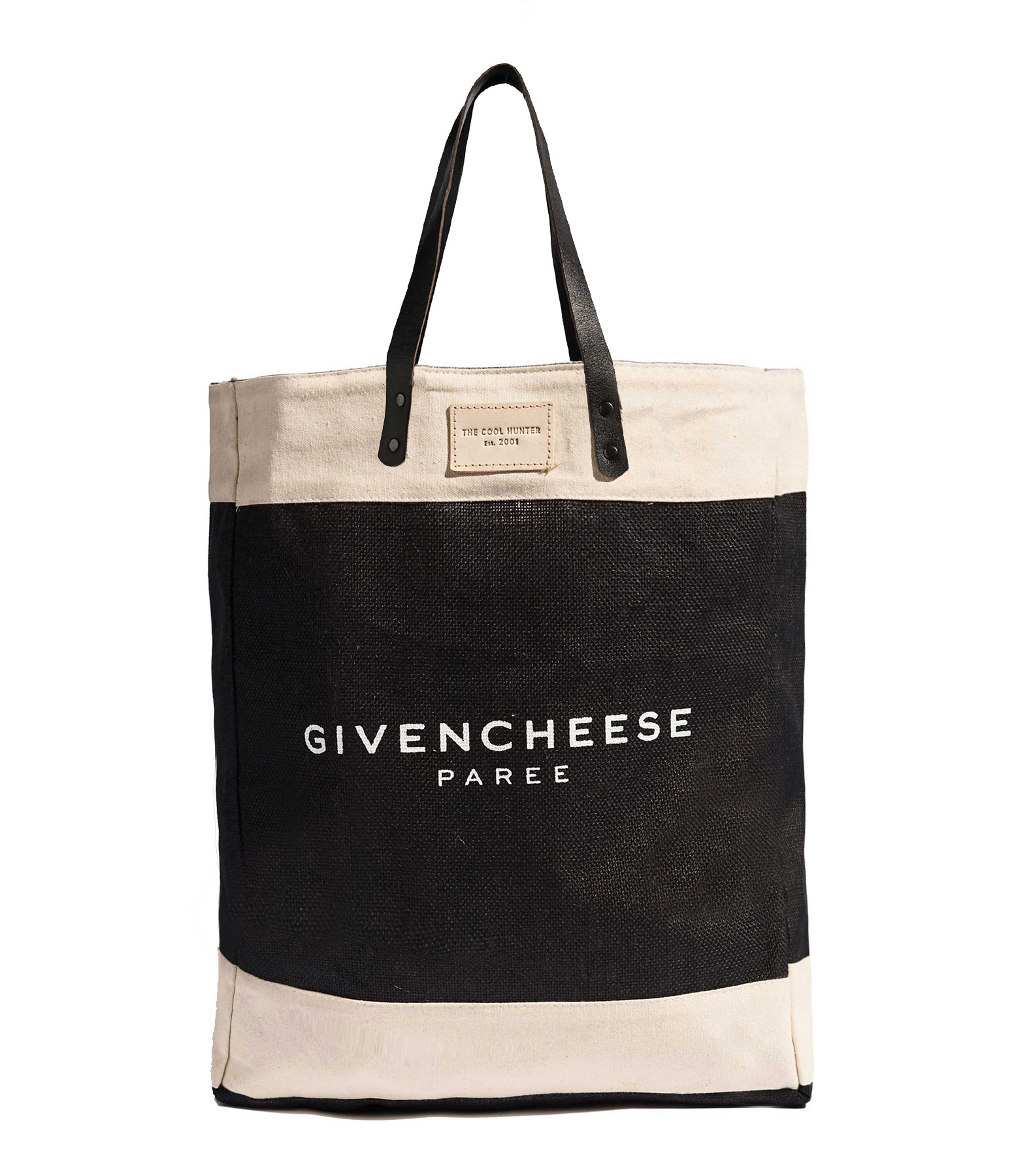 THE COOL HUNTER - Cabas Toile de Jute GIVENCHEESE