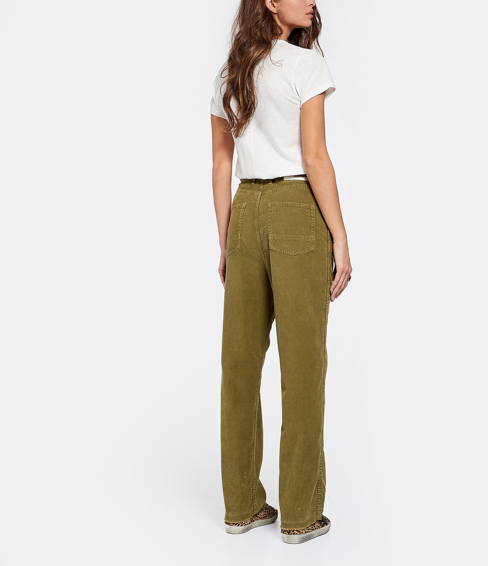 GOLDEN GOOSE - Pantalon Velours Côtelé Vert