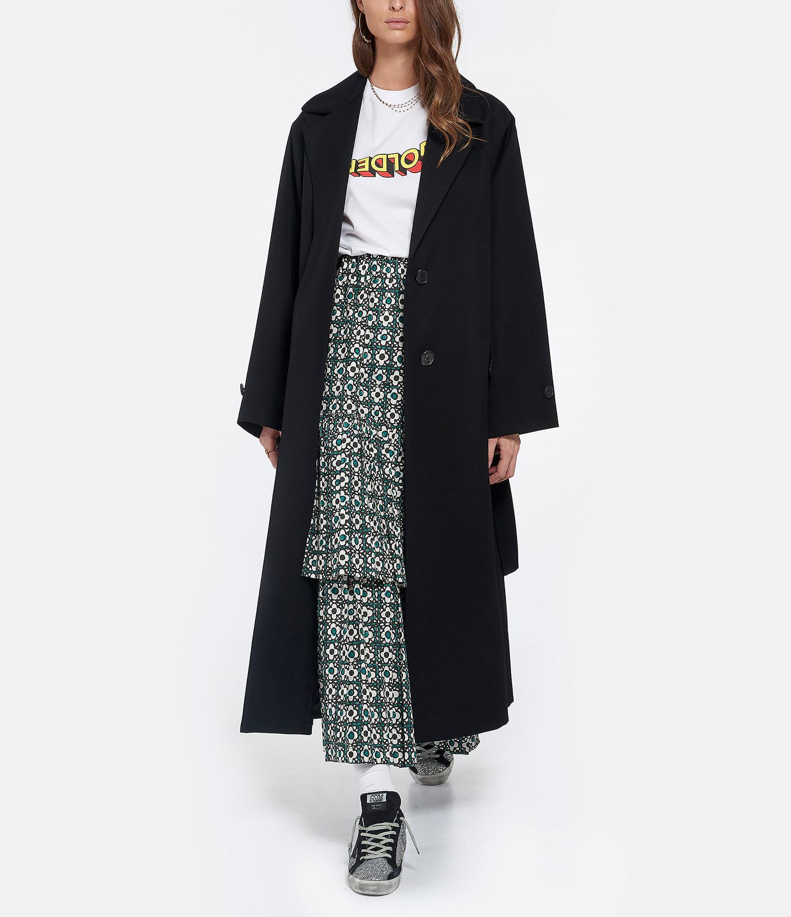 GOLDEN GOOSE - Manteau Elle Laine Noir