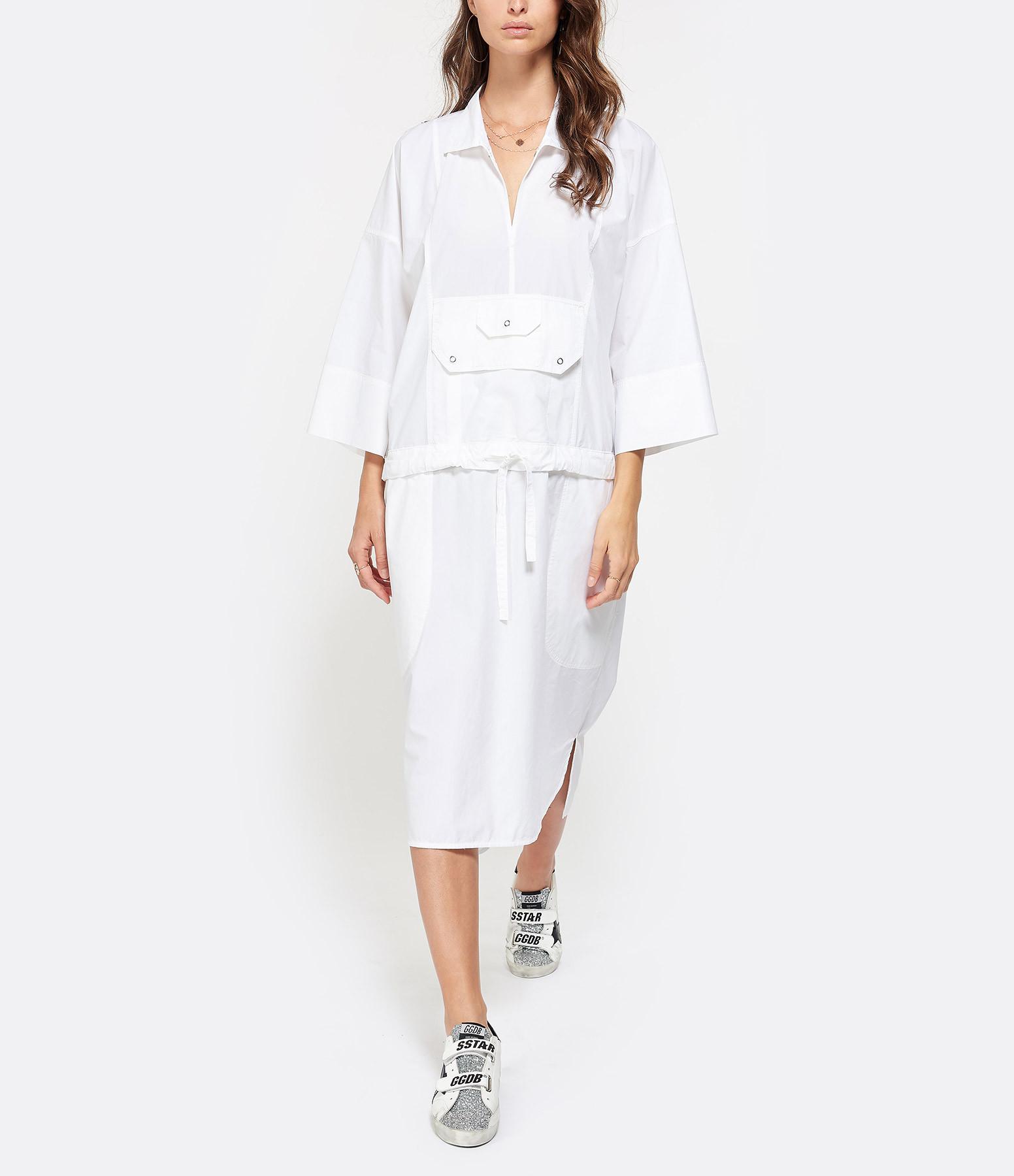 GOLDEN GOOSE - Robe Azhar Coton Blanc