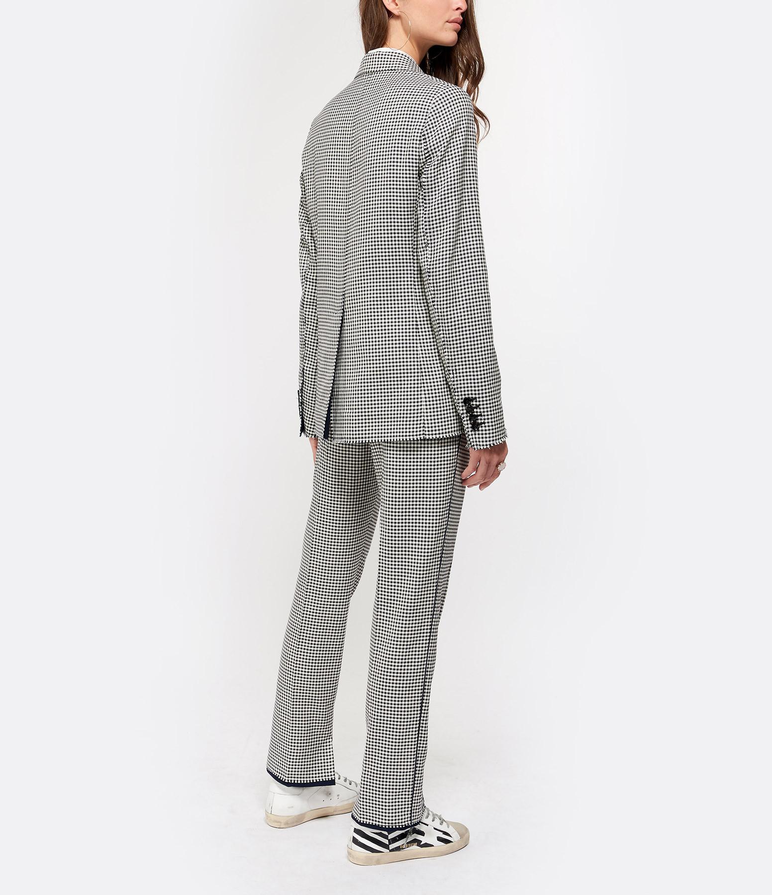 GOLDEN GOOSE - Pantalon Minori Imprimé Blanc Navy