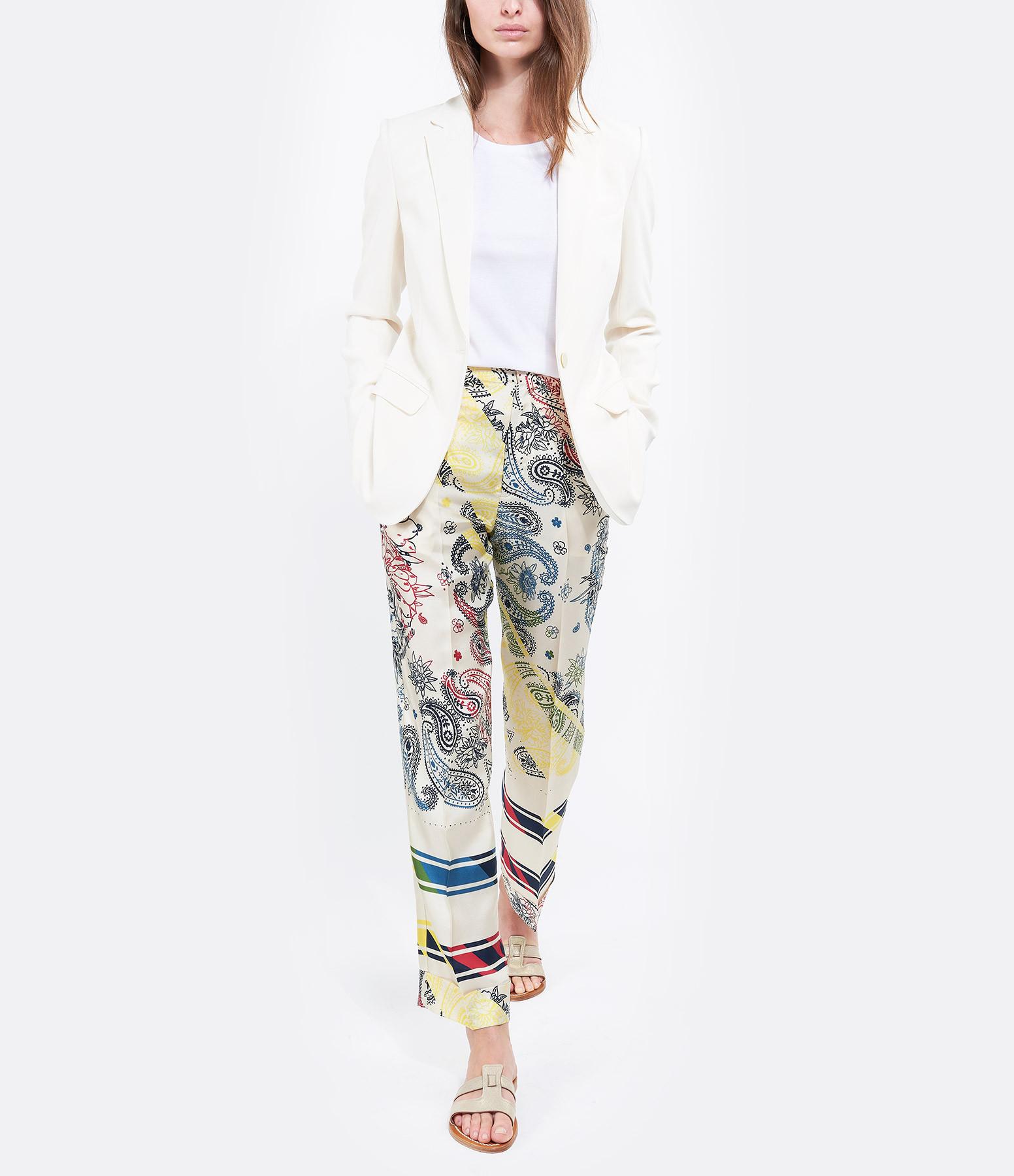 GOLDEN GOOSE - Pantalon New Sally Soie Imprimé Bandana