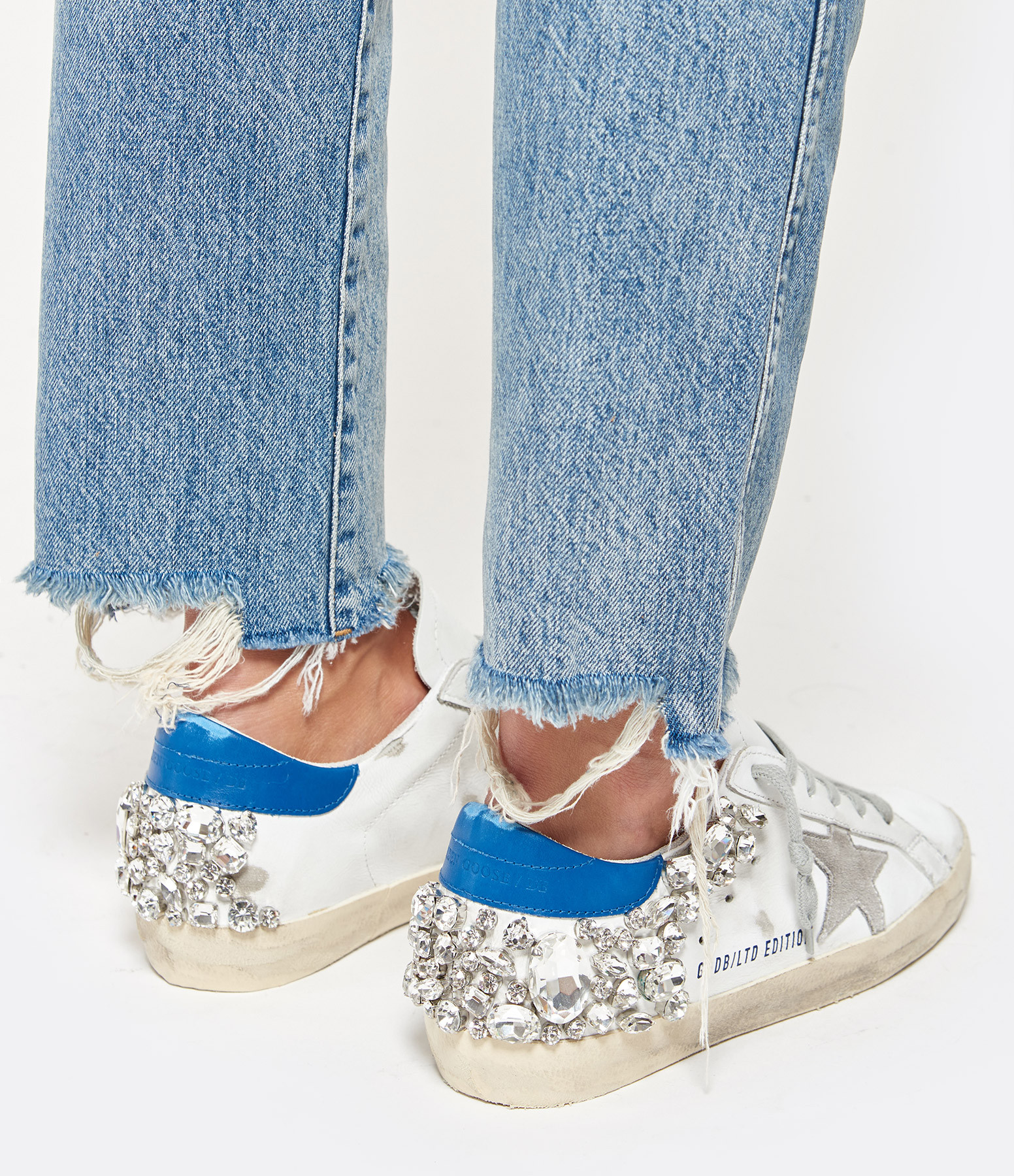 Sneakers Superstar Blue Diamond Cream Sole - GOLDEN GOOSE