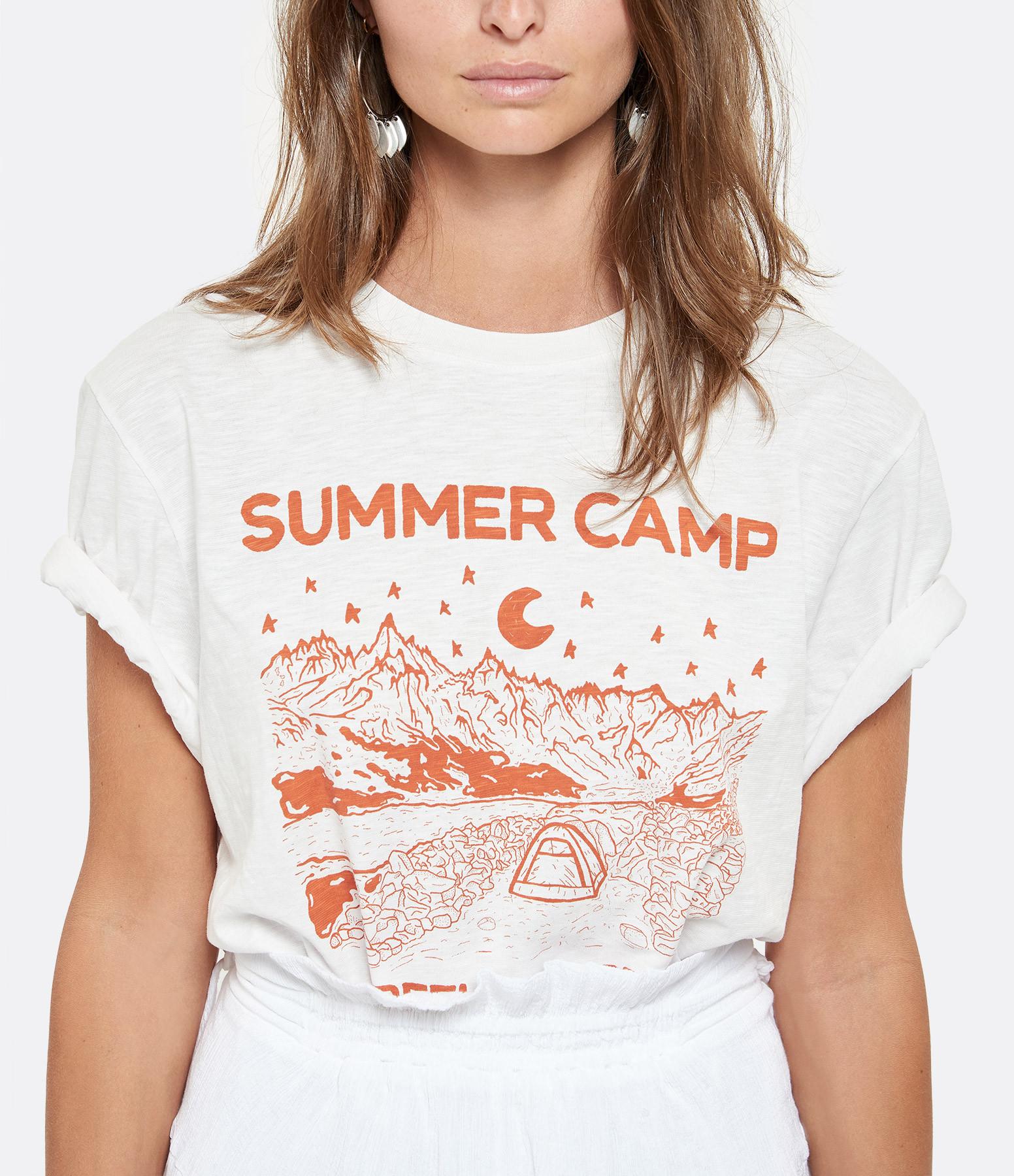 GOLDEN GOOSE - Tee-shirt Homme Adamo Camp Blanc Rouge