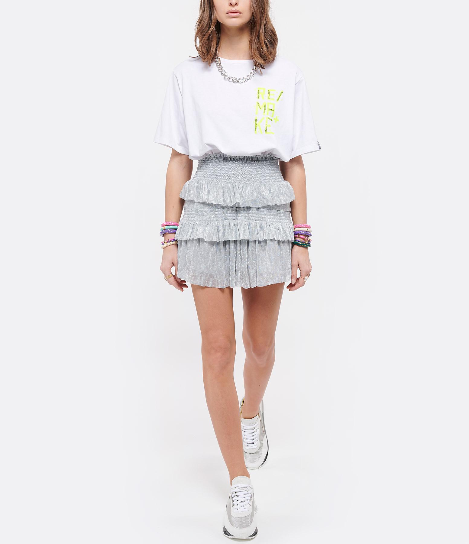 GOLDEN GOOSE - Tee-shirt Aira Remake Coton Blanc