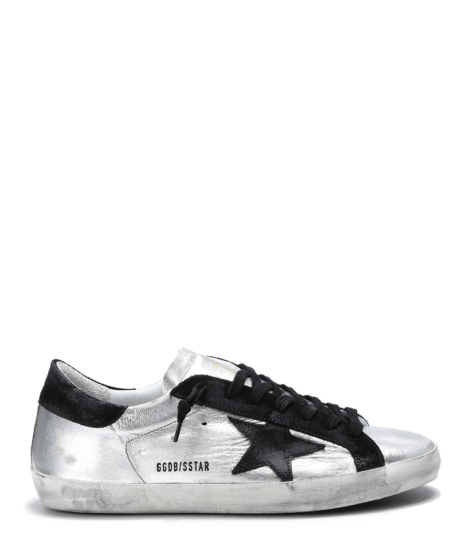 3b540d9f758c05 Sneakers Superstar Homme Cuir Silver Black Leather - GOLDEN GOOSE