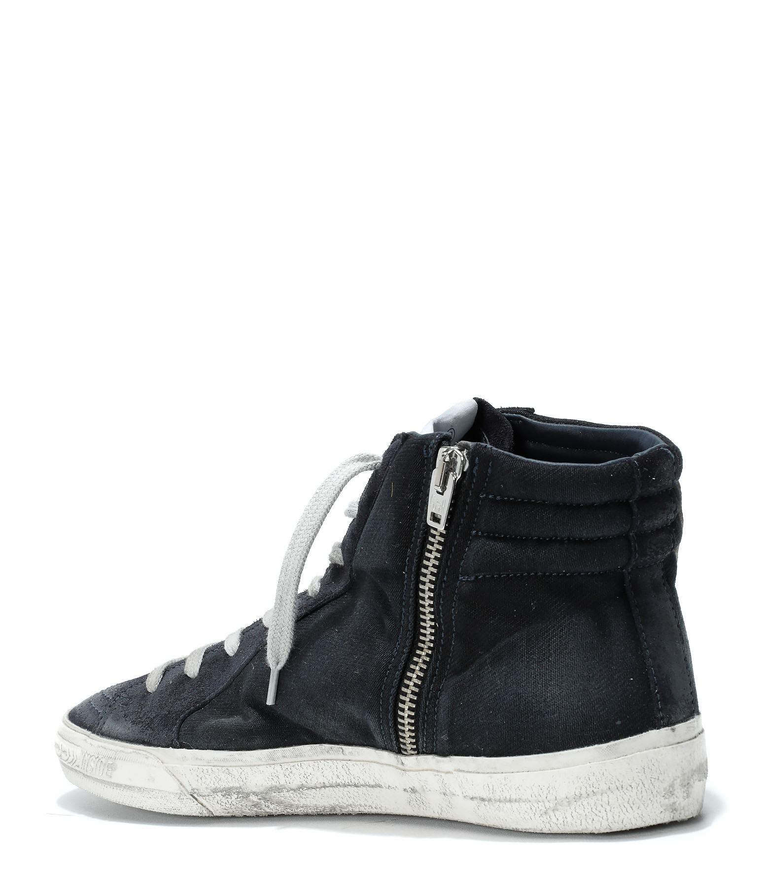 GOLDEN GOOSE - Baskets Sneakers Homme Slide Navy Denim
