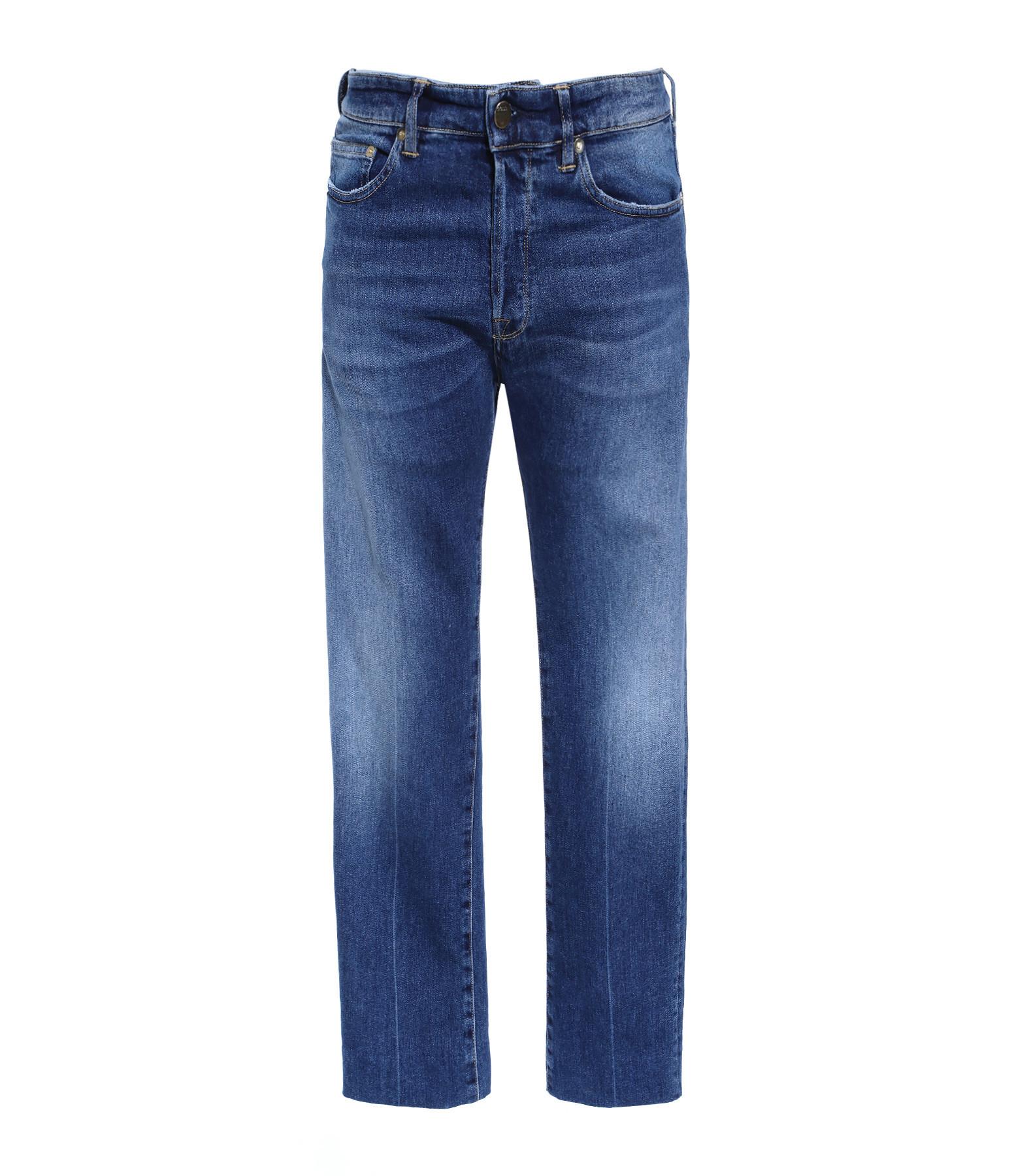 GOLDEN GOOSE - Pantalon Homme Lit Bleu Délavé