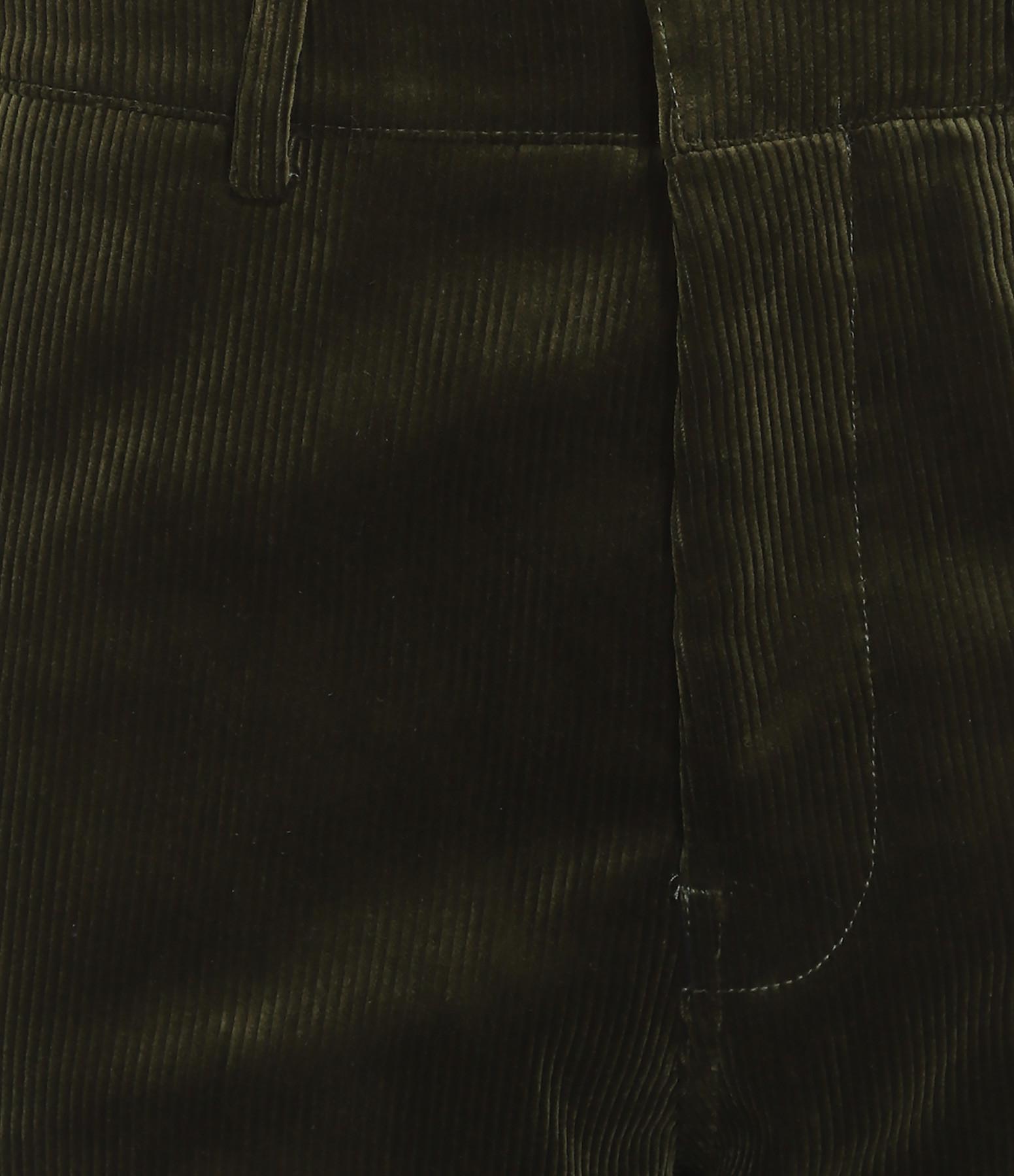 GOLDEN GOOSE - Pantalon Homme Chino Velours Côtelé Vert