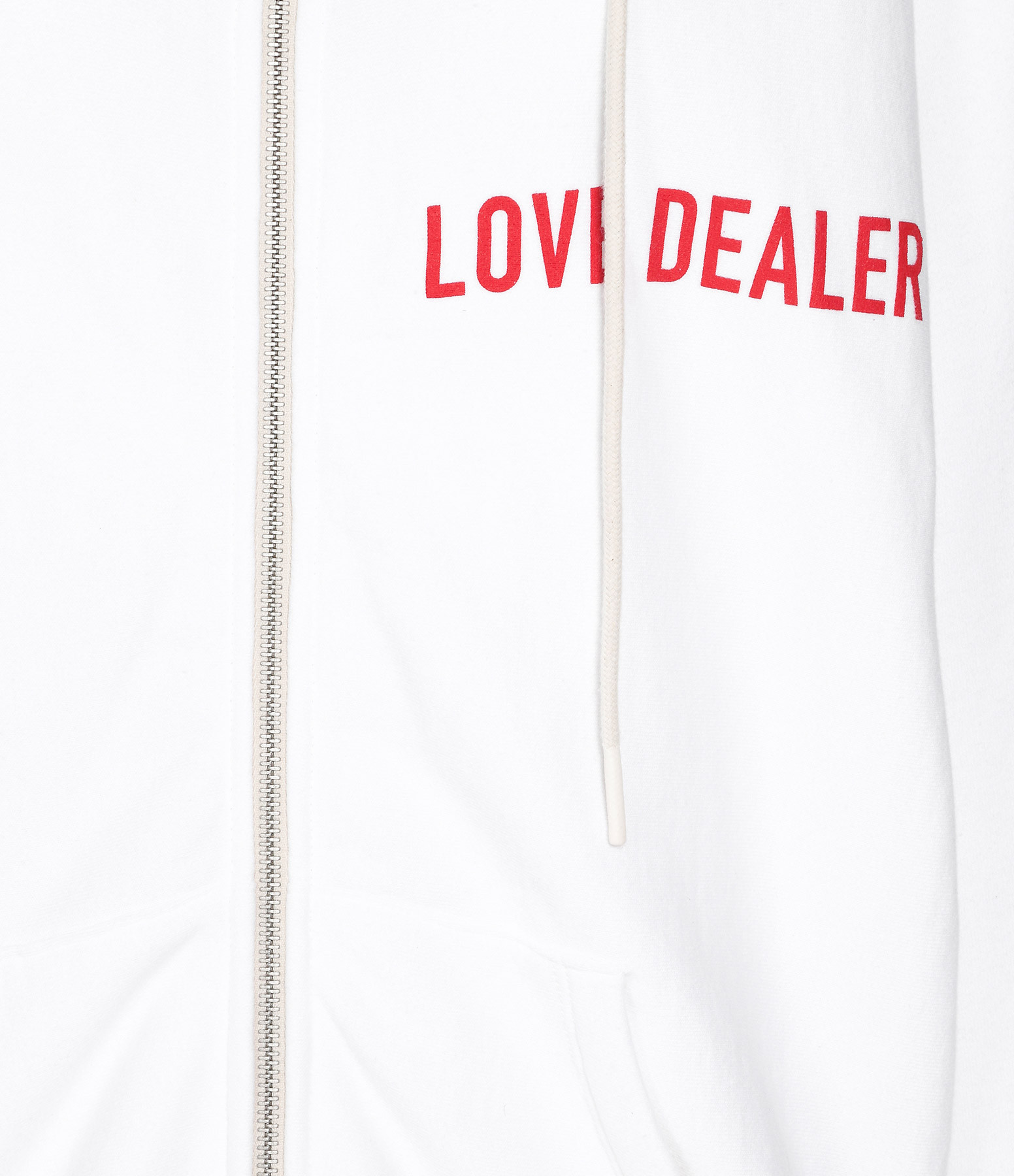 GOLDEN GOOSE - Veste Love Dealer Coton Blanc