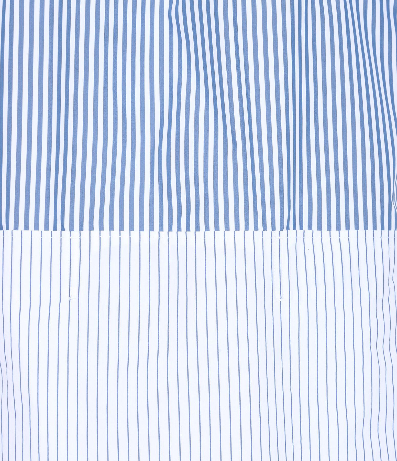 GOLDEN GOOSE - Robe Samantha Coton Rayures Bleu