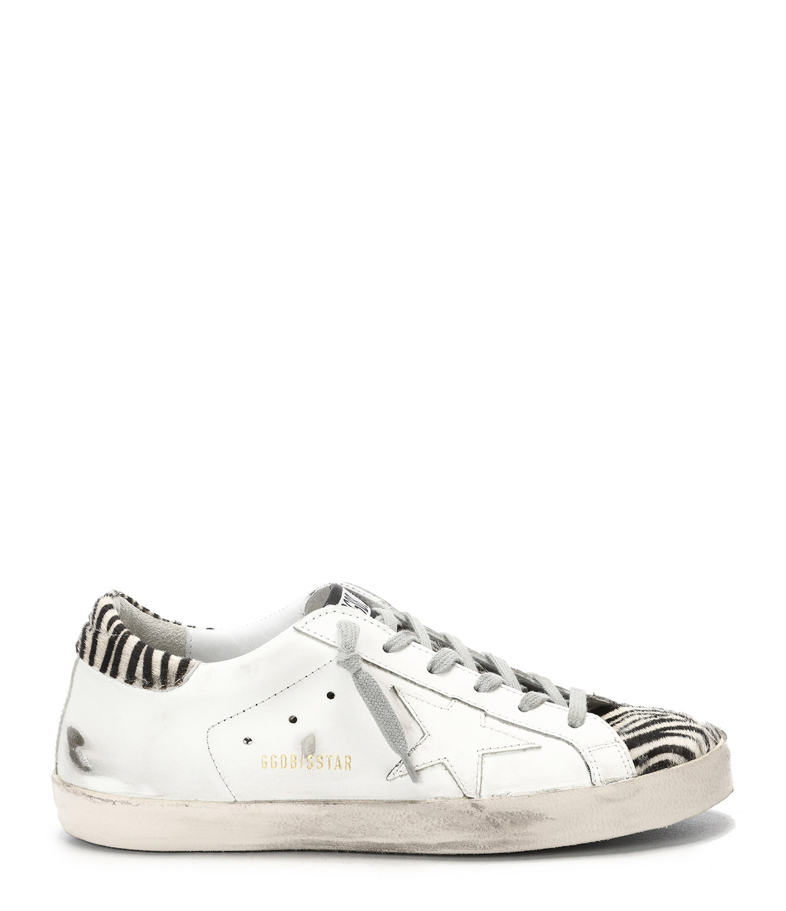 GOLDEN GOOSE - Baskets Superstar Zèbre Blanc