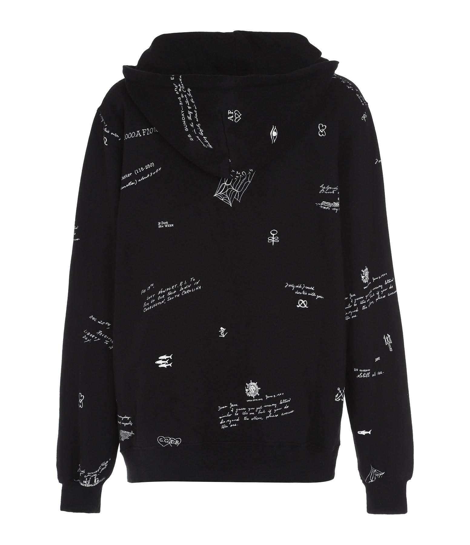GOLDEN GOOSE - Sweatshirt Saburo Imprimé Noir