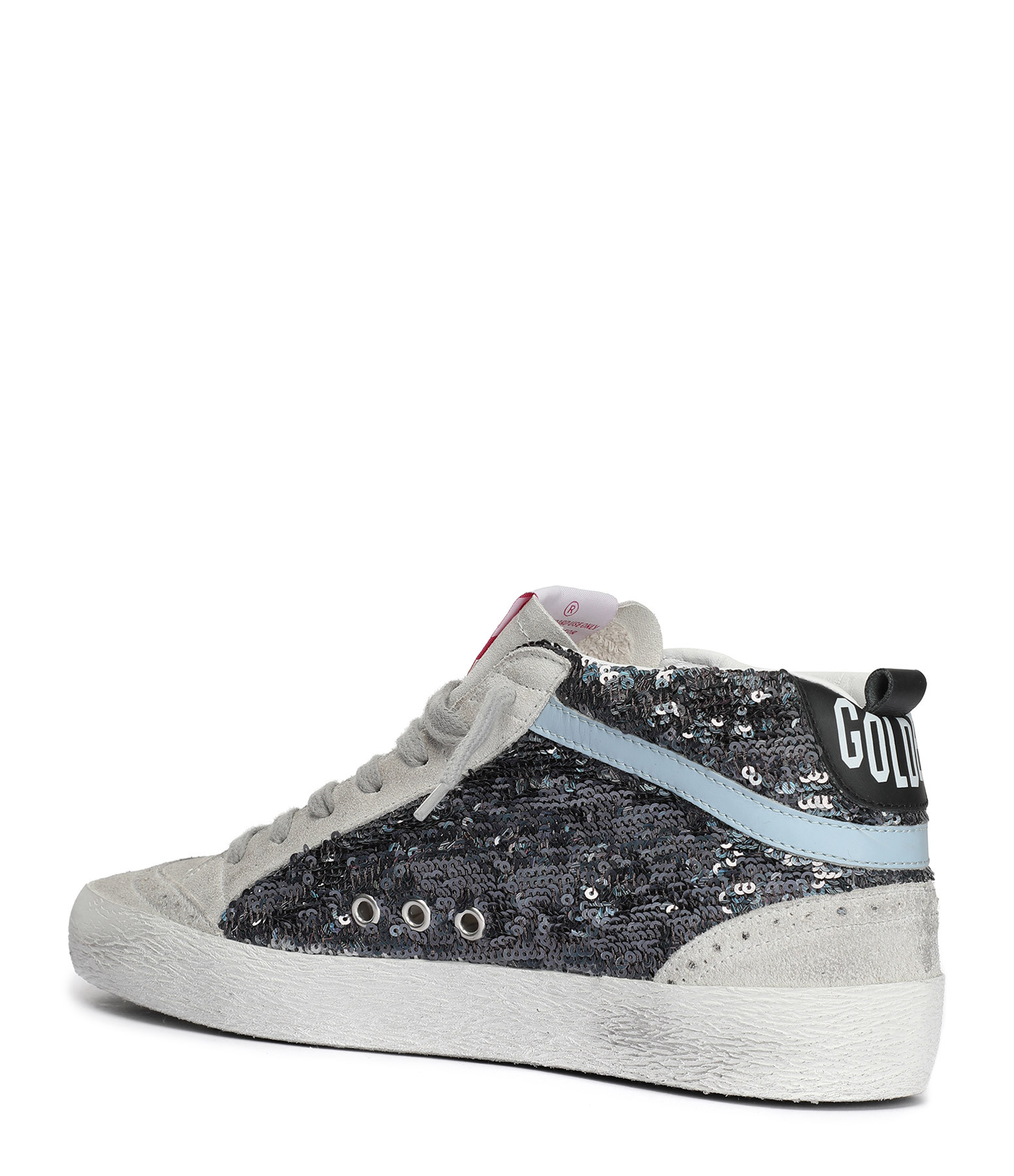 Baskets Mid Star Paillettes Cuir Multicolore