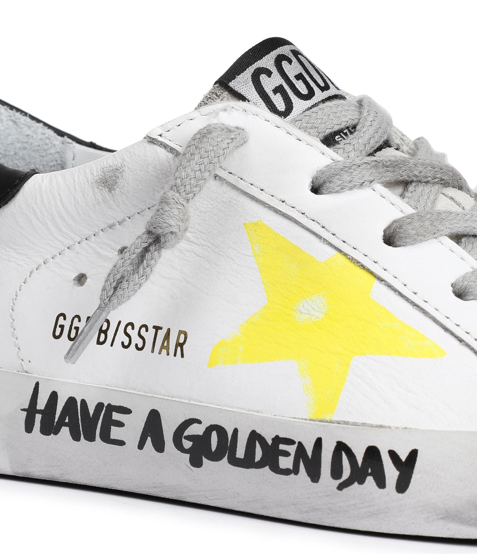GOLDEN GOOSE - Baskets Bébé Superstar Signature Blanc Jaune