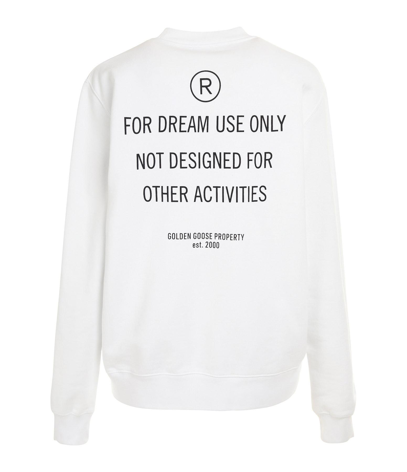 GOLDEN GOOSE - Sweatshirt Homme Dream Only Coton Blanc