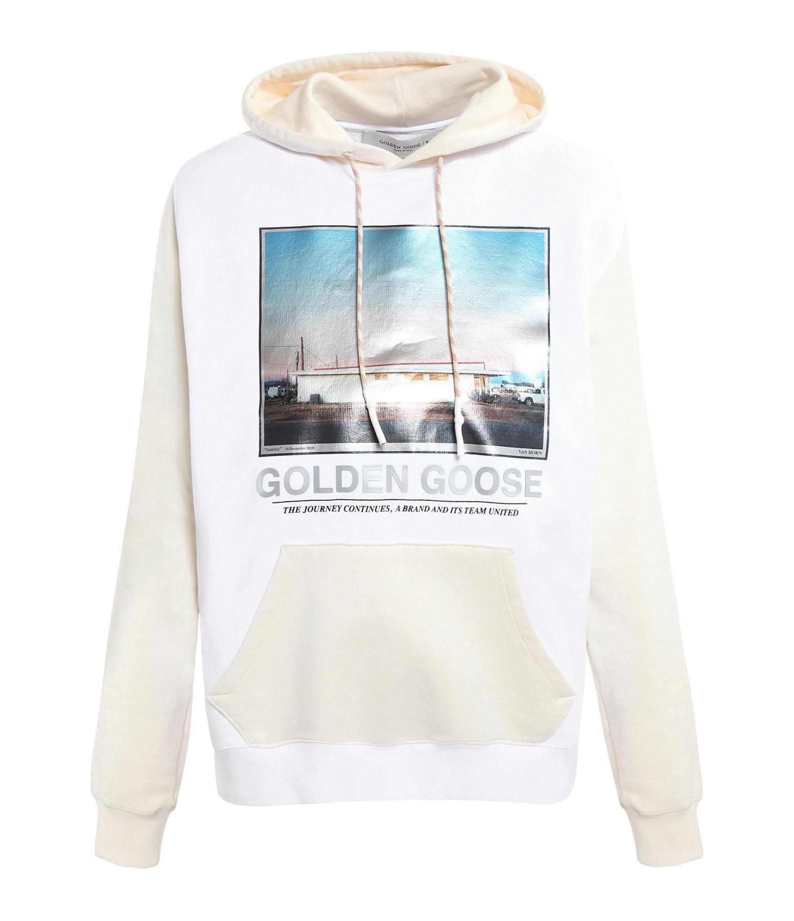 GOLDEN GOOSE - Sweatshirt Homme Nicholas Coton Blanc