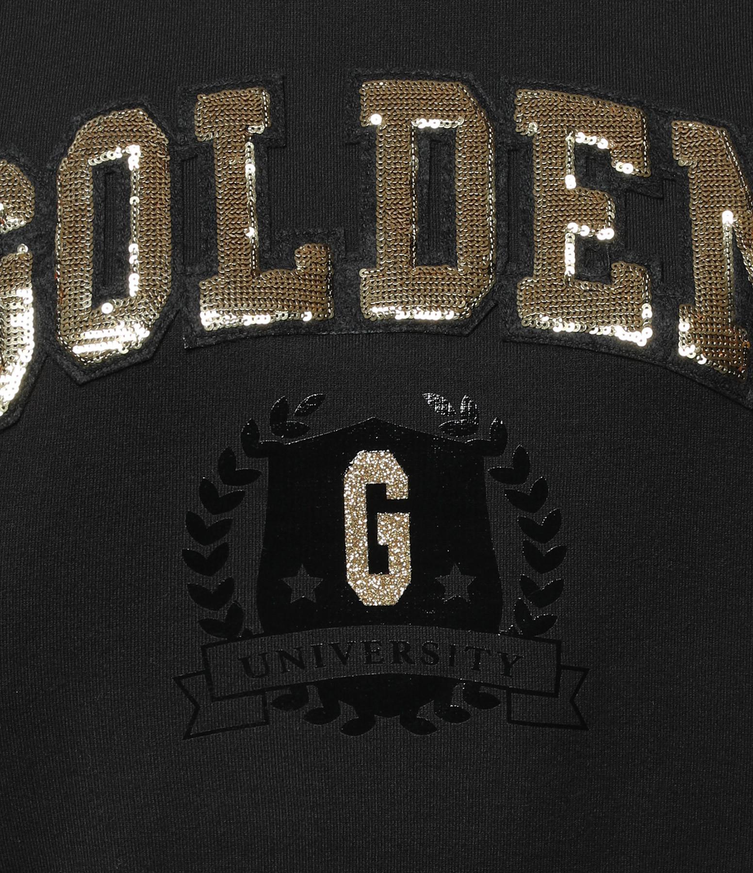 GOLDEN GOOSE - Sweatshirt Sharon Golden University Coton Noir