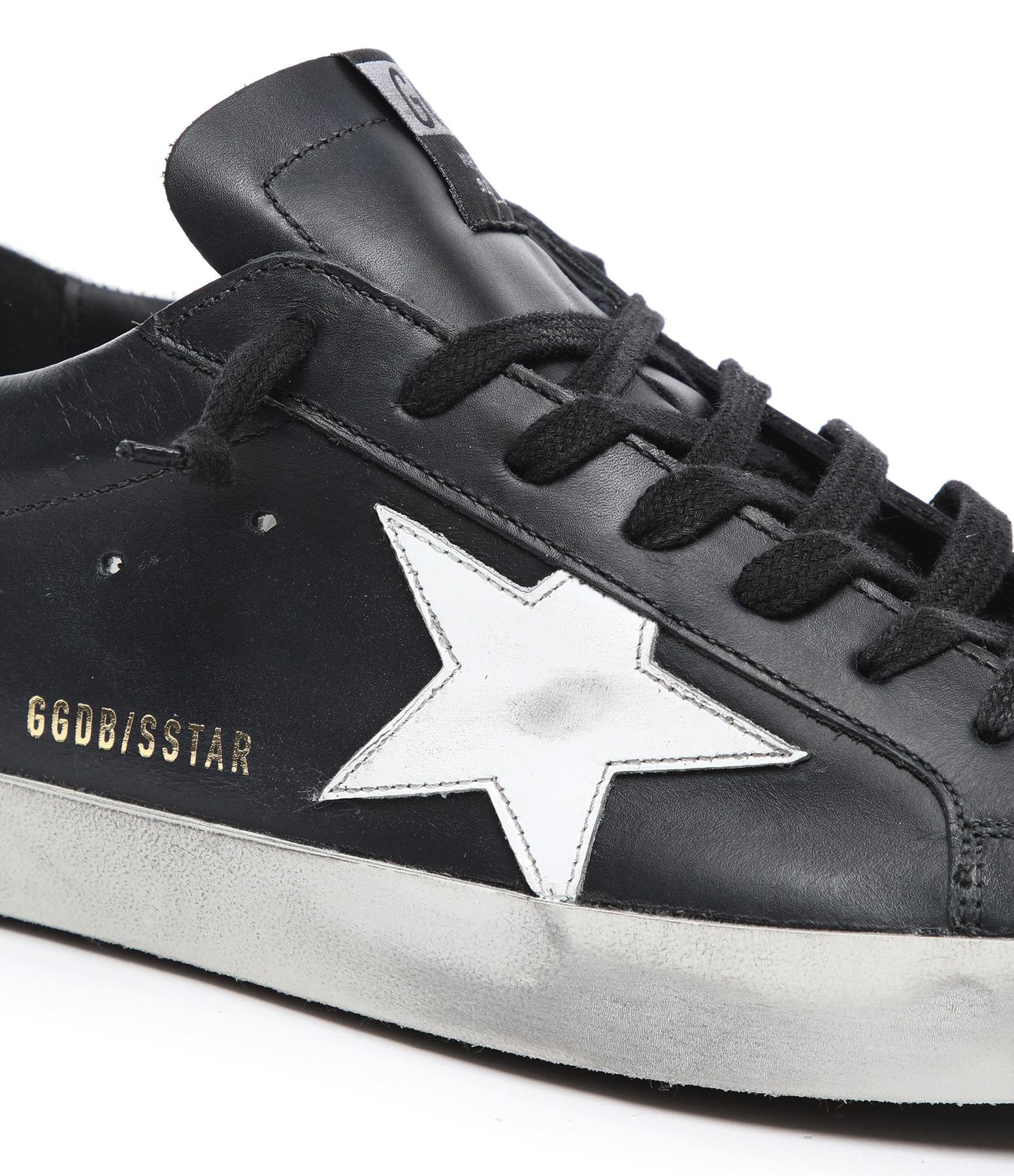 GOLDEN GOOSE - Baskets Superstar Cuir Noir Blanc
