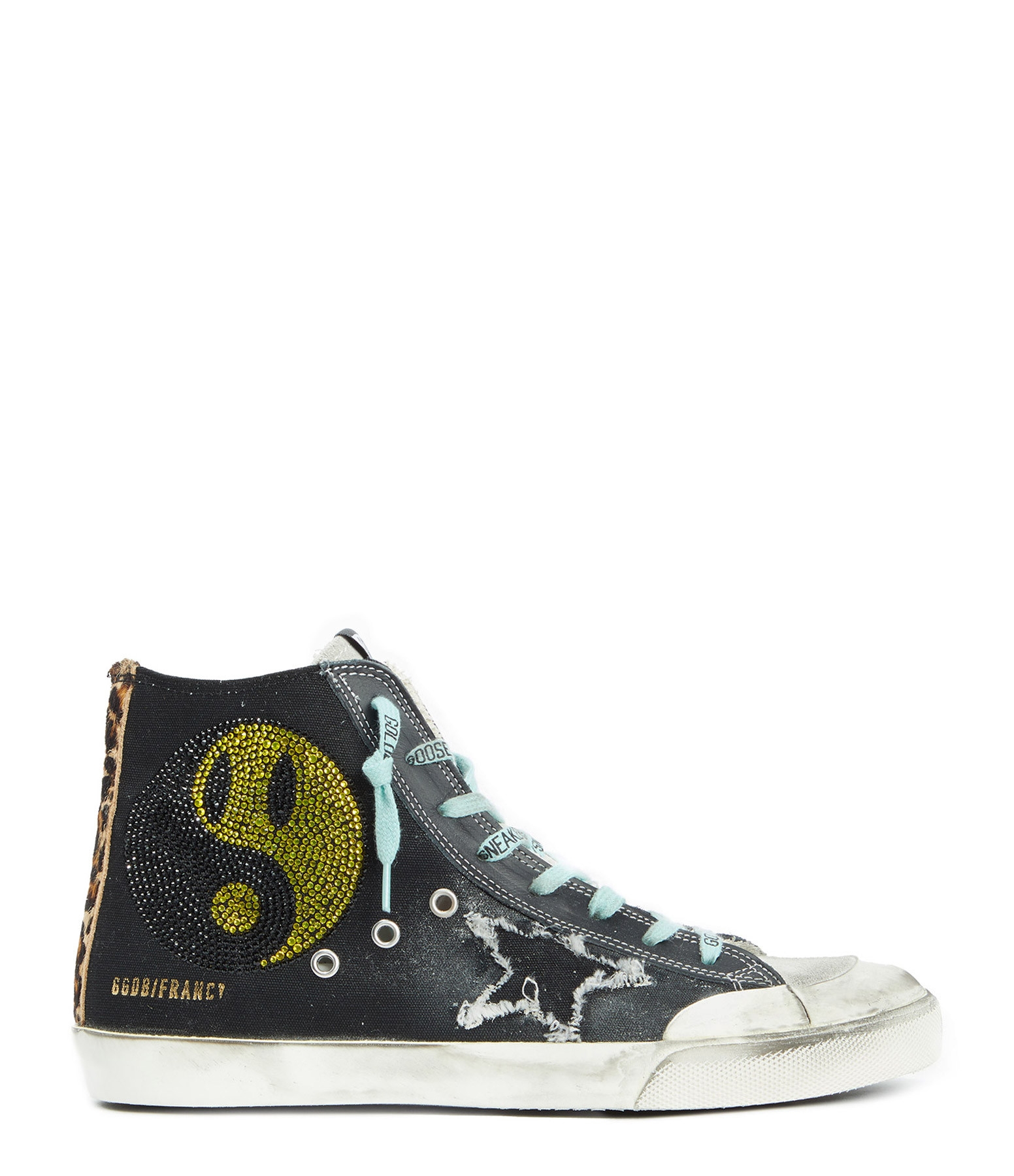 GOLDEN GOOSE - Baskets Homme Francy Cuir Noir