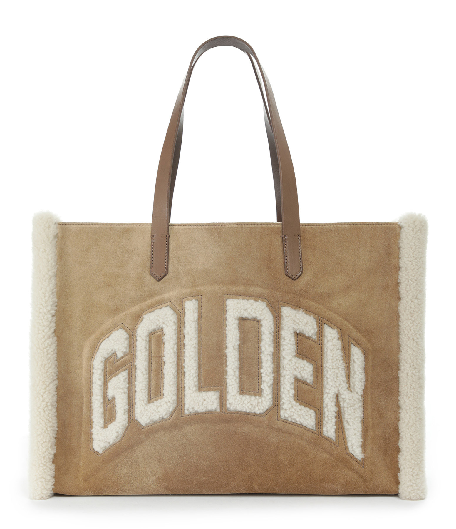 GOLDEN GOOSE - Sac Cabas California Cuir Suédé Camel