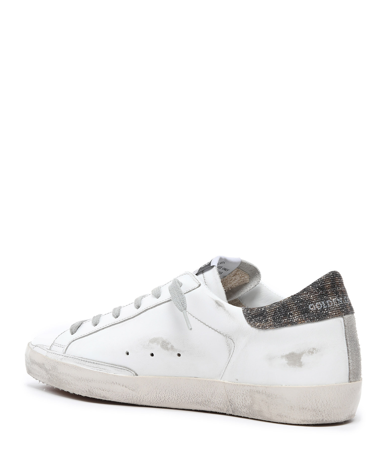 GOLDEN GOOSE - Baskets Superstar Cuir Suédé Blanc Doré