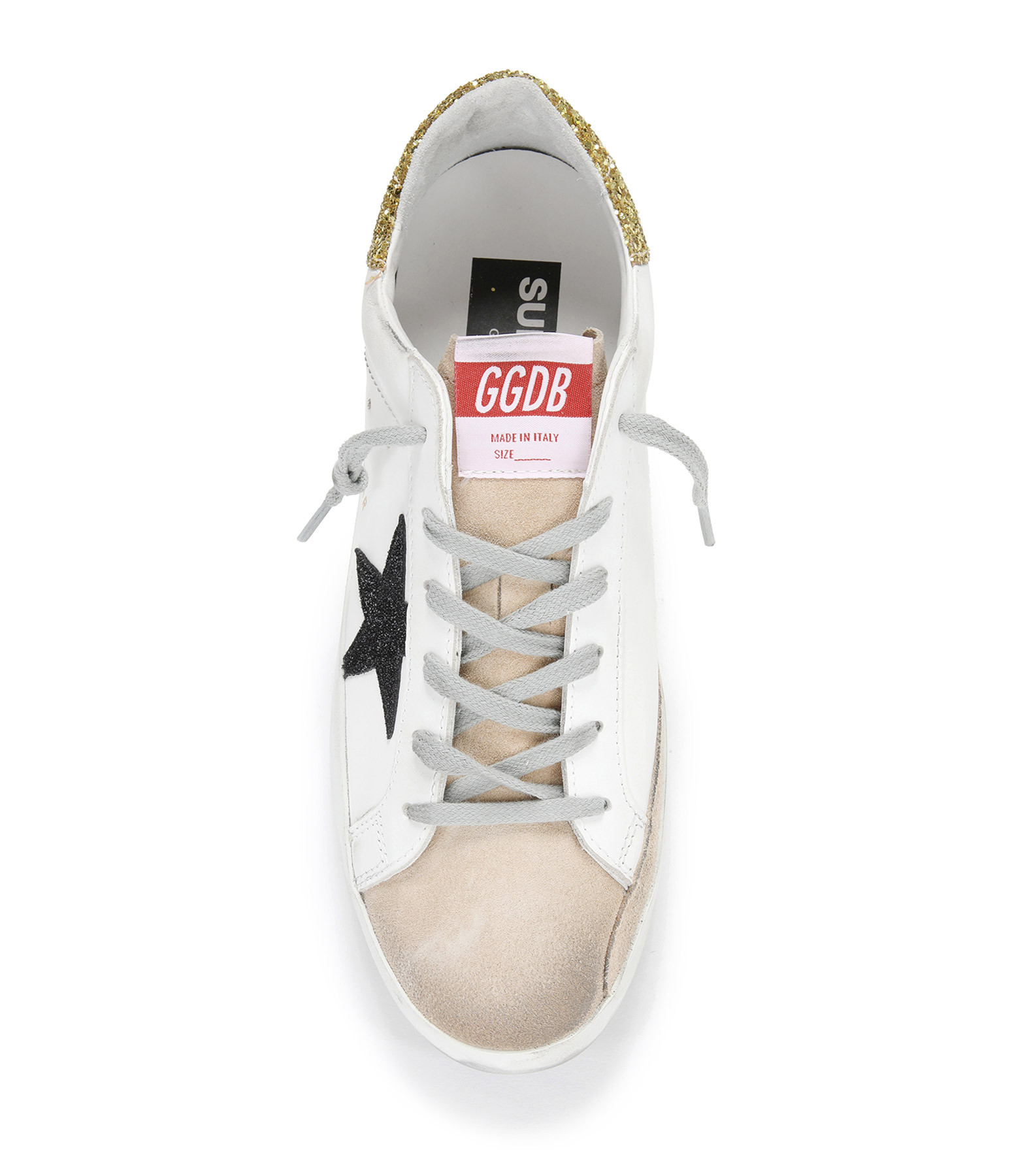 GOLDEN GOOSE - Baskets Superstar Cuir Suédé Cappucino Blanc