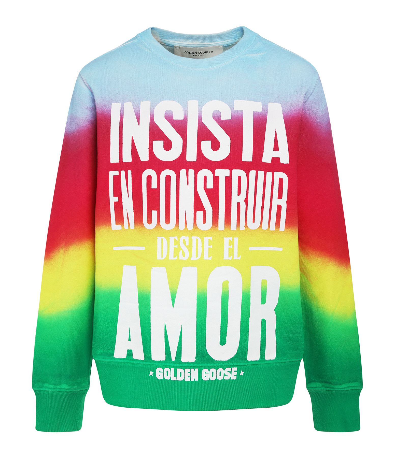 GOLDEN GOOSE - Sweatshirt Athena Construir Amor Multicolore