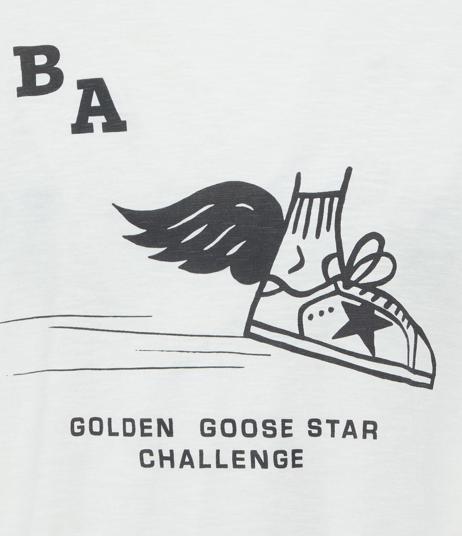 GOLDEN GOOSE - Tee-shirt Homme Adamo Challenge Blanc