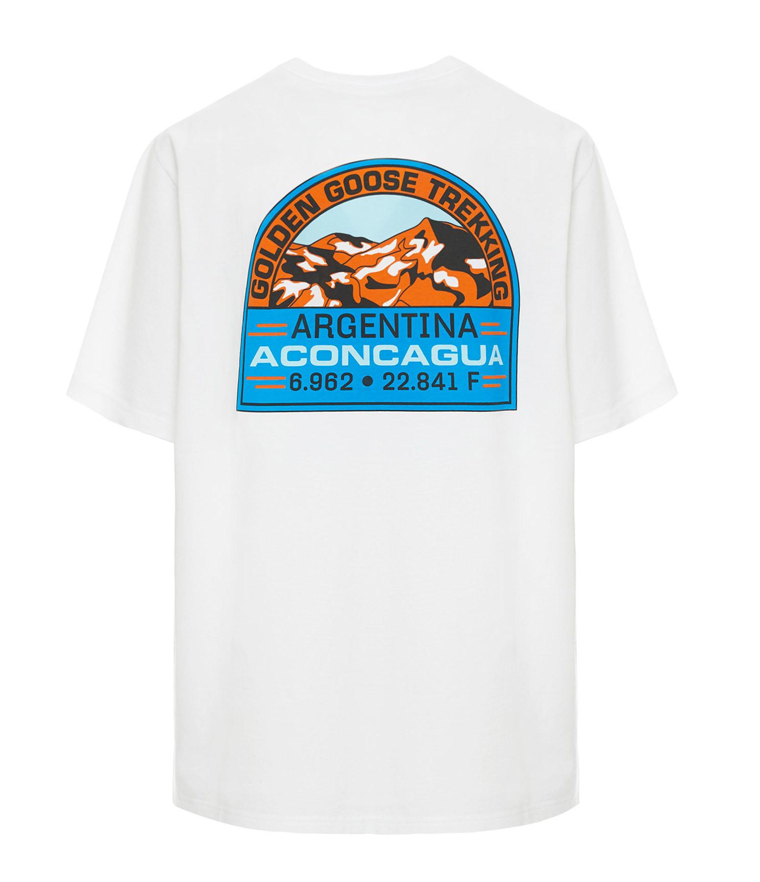 GOLDEN GOOSE - Tee-shirt Homme Adamo Argentina Blanc Noir