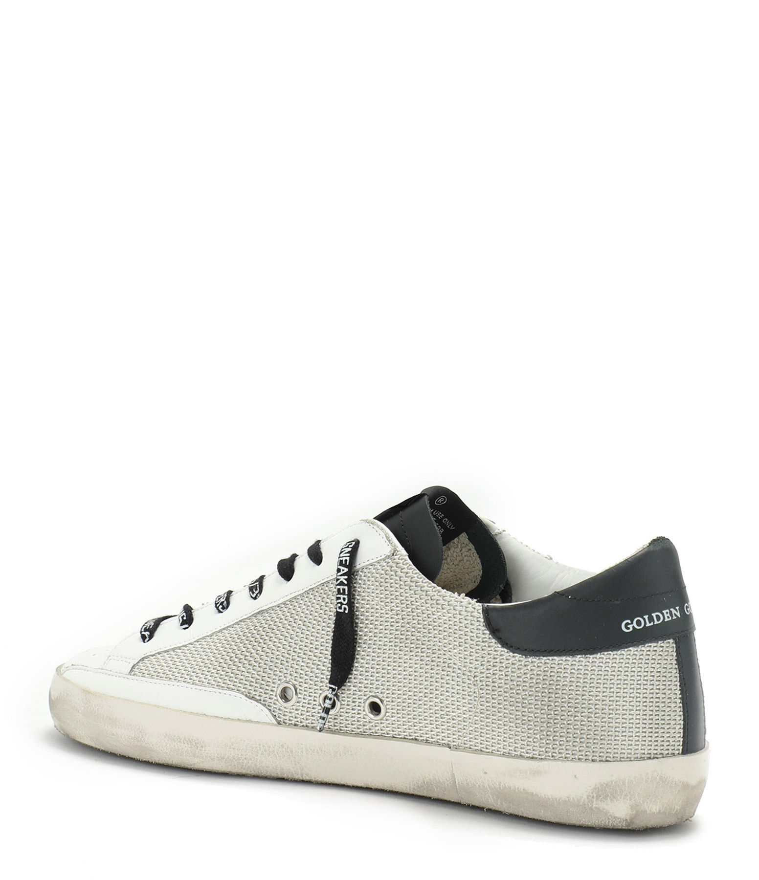 GOLDEN GOOSE - Baskets Homme Superstar Cuir Suédé Jaune Noir