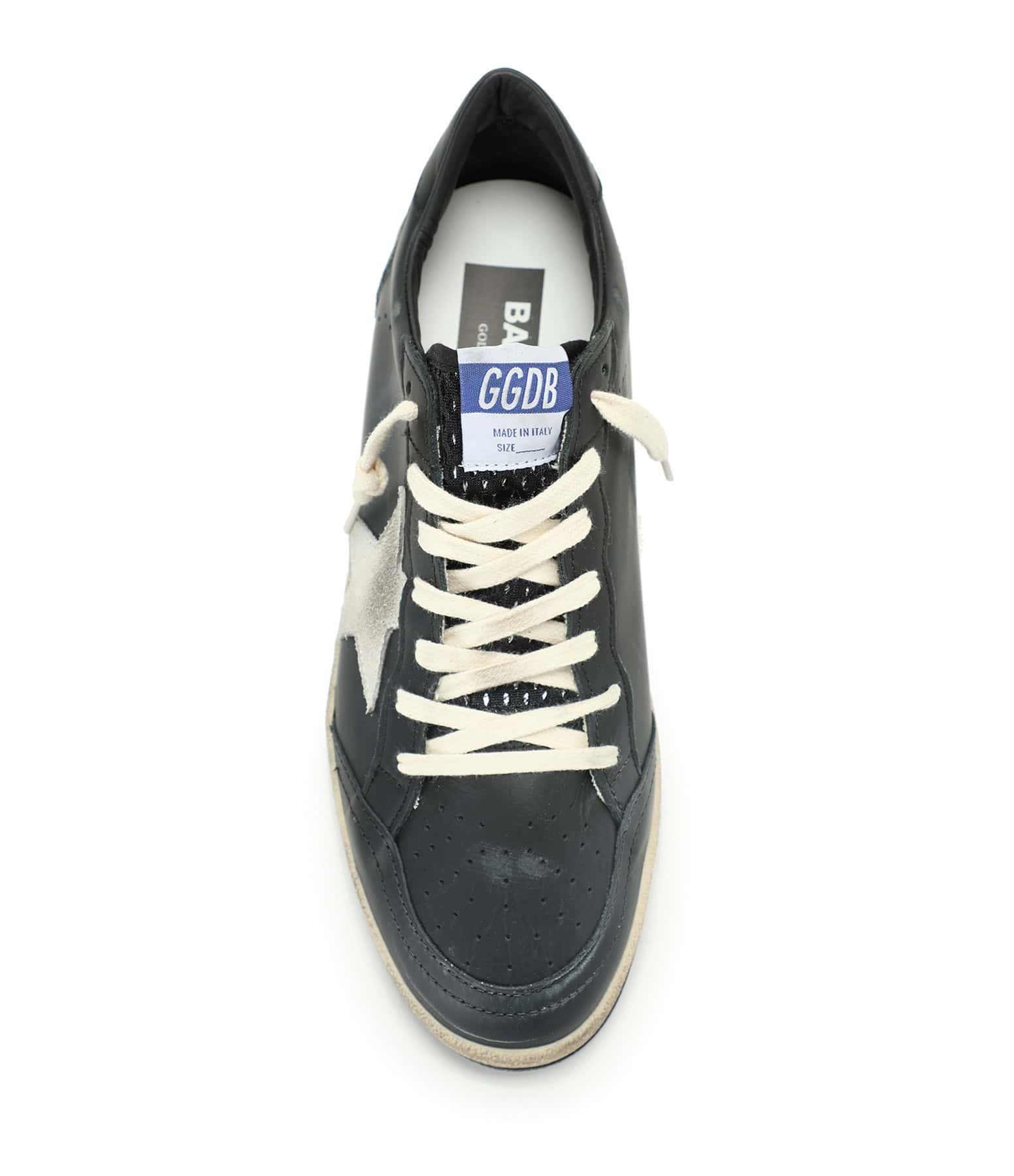 GOLDEN GOOSE - Baskets Homme Ball Star Cuir Suédé Ice Noir