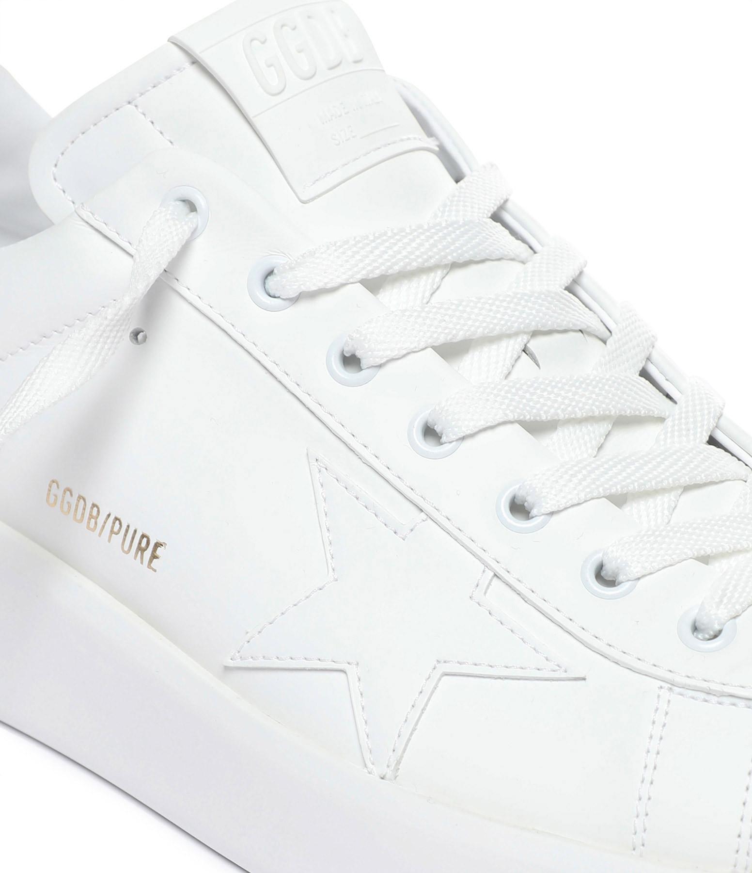GOLDEN GOOSE - Baskets Homme Purestar Cuir Blanc Noir