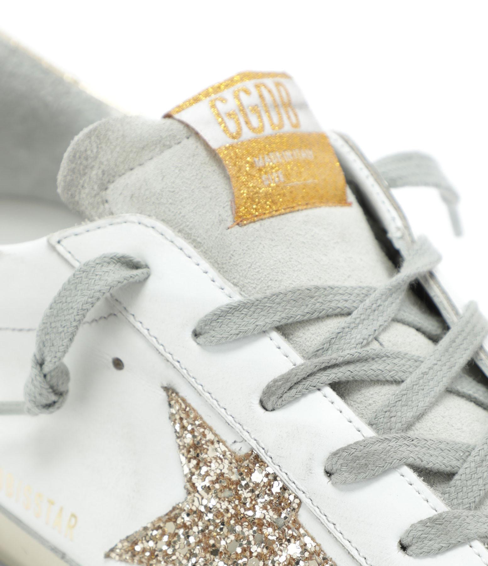GOLDEN GOOSE - Baskets Superstar Cuir Glitter Ice Doré