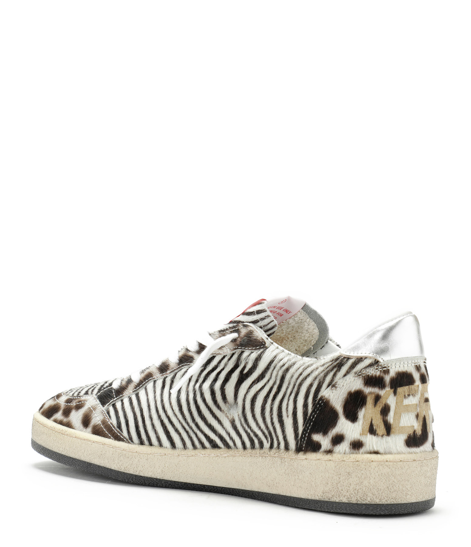 GOLDEN GOOSE - Baskets Ball Star Cuir Laminé Jungle Horsy