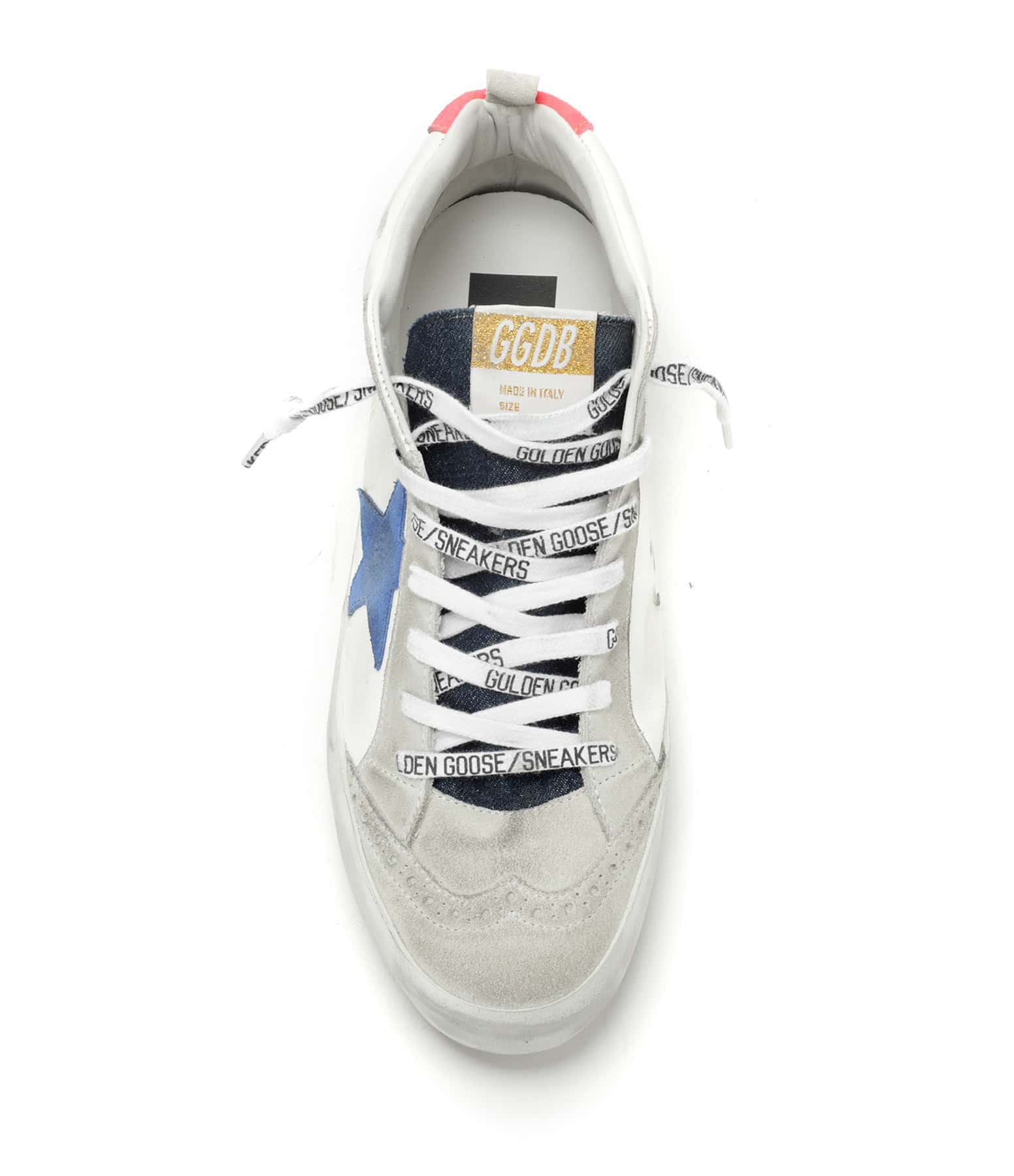 GOLDEN GOOSE - Baskets Mid Star Cuir Suédé Denim Ice Bleu