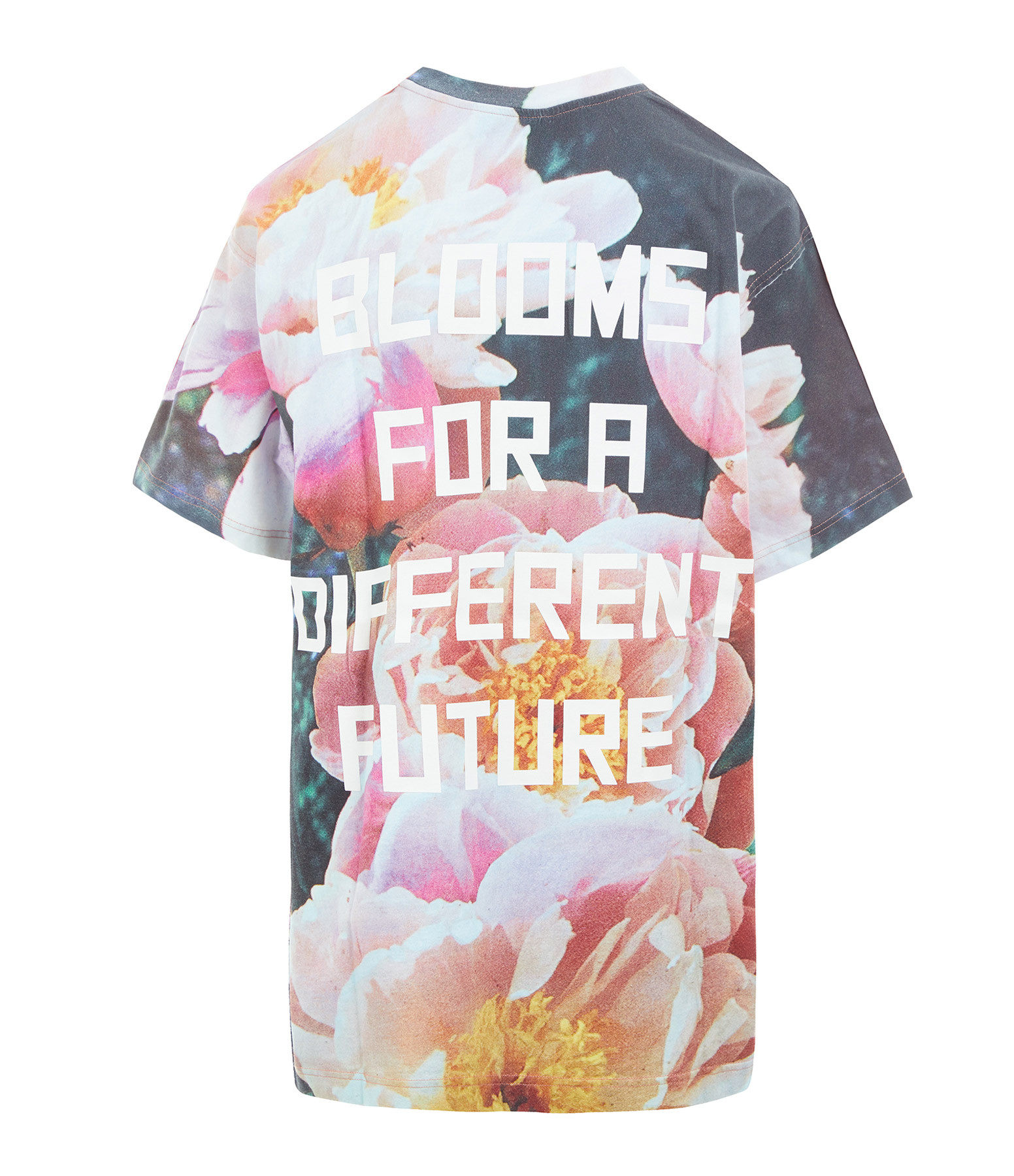 GOLDEN GOOSE - Tee-shirt Homme Artu Blooms Coton Sable Multicolore
