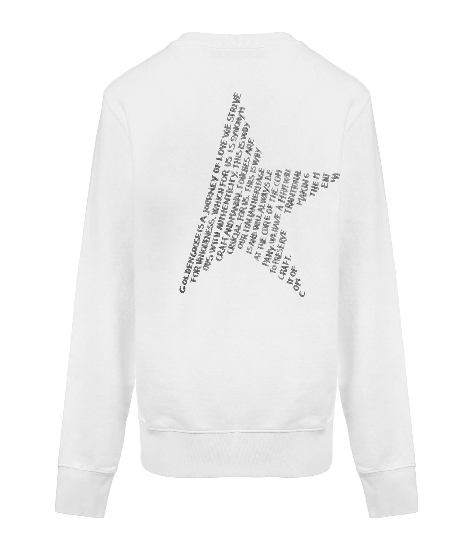 GOLDEN GOOSE - Sweatshirt Homme Archibald Étoile Coton Blanc Noir