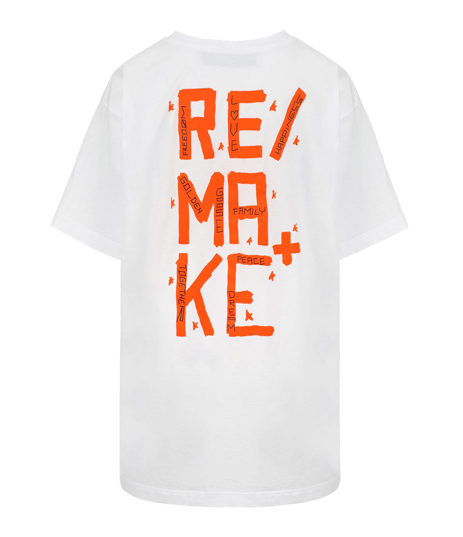 GOLDEN GOOSE - Tee-shirt Homme Artu Remake Coton Blanc Orange