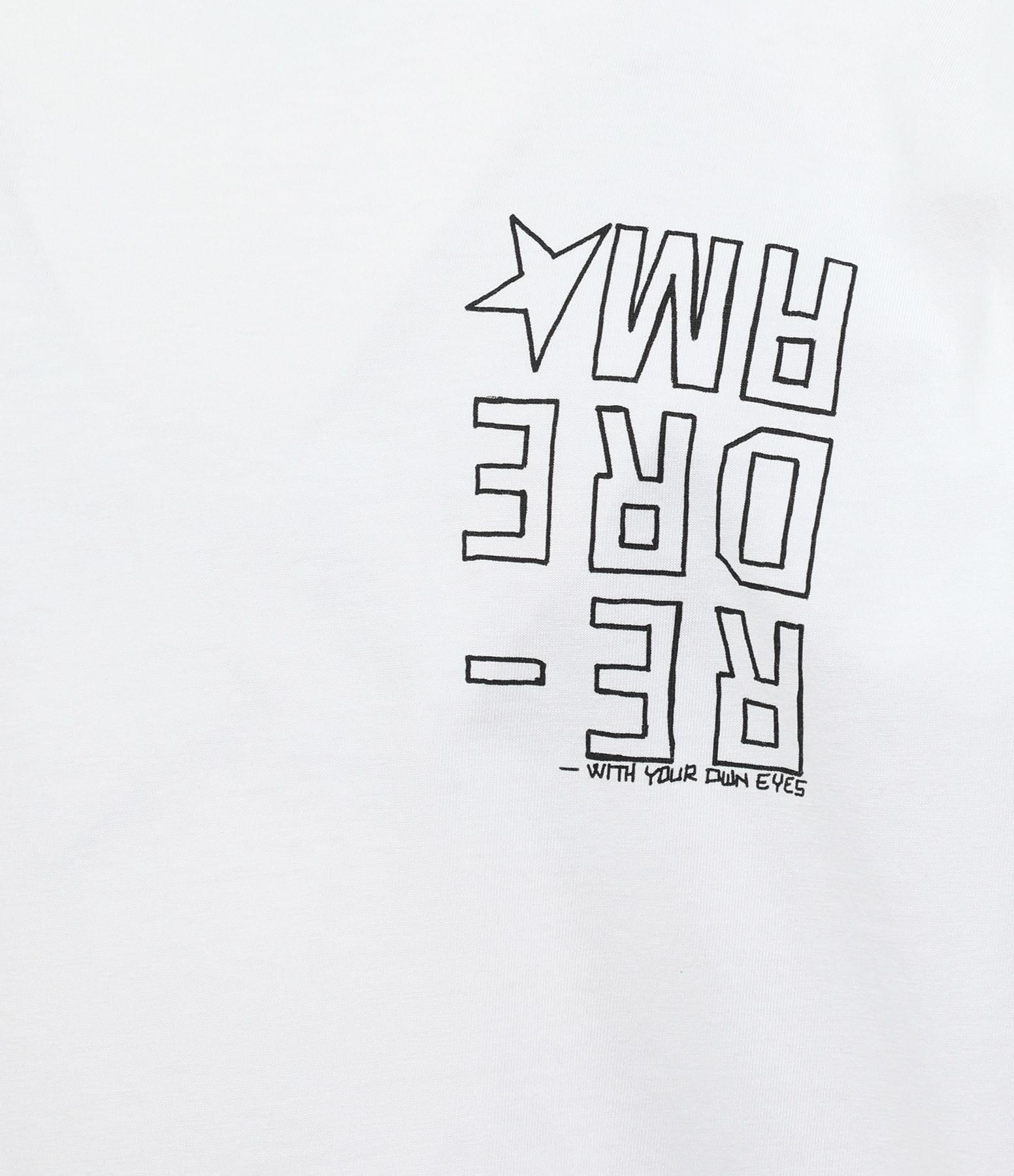 GOLDEN GOOSE - Tee-shirt Homme Artu Dreamer Coton Blanc Noir