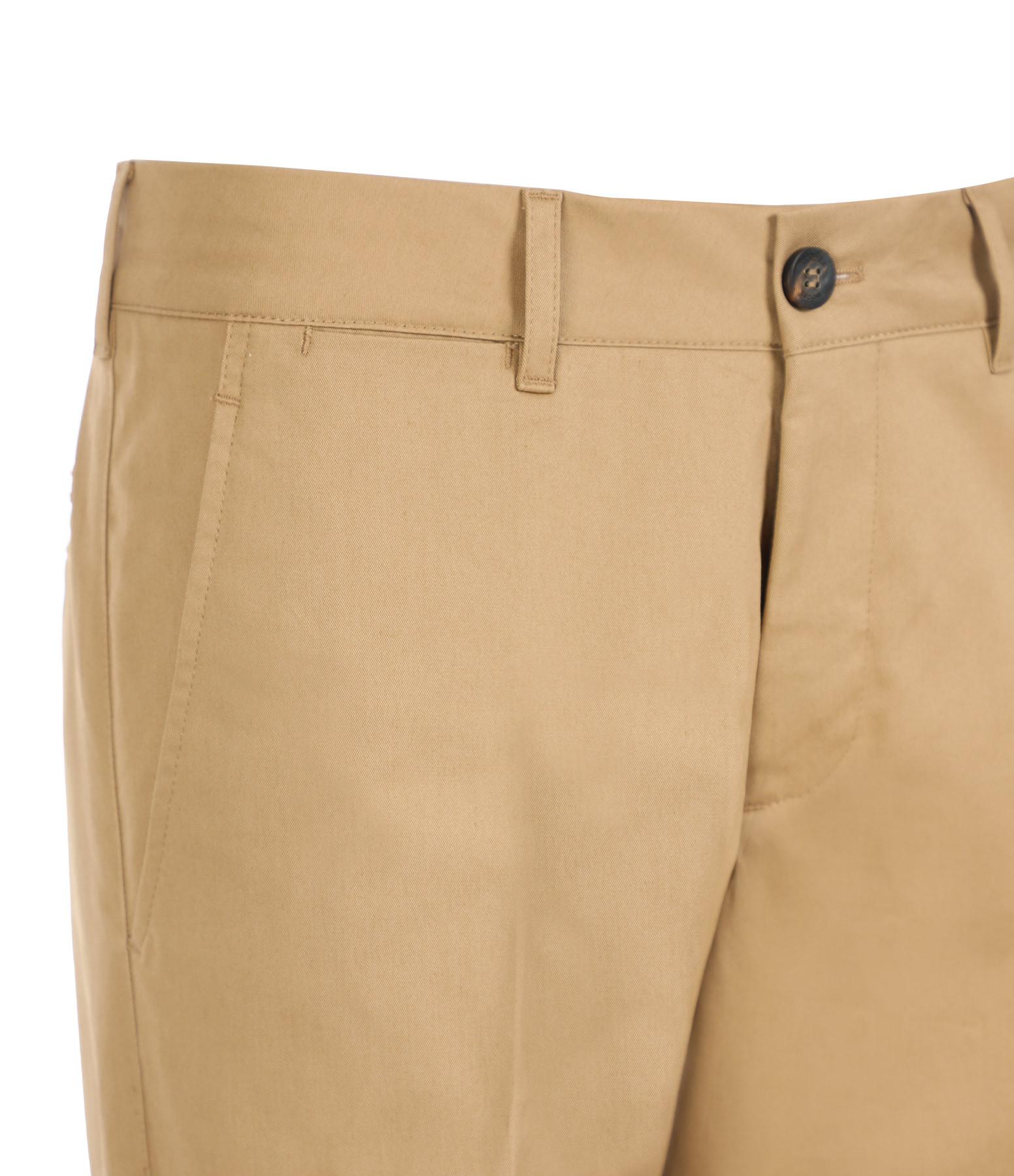 GOLDEN GOOSE - Pantalon Homme Chino Conrad Coton Beige