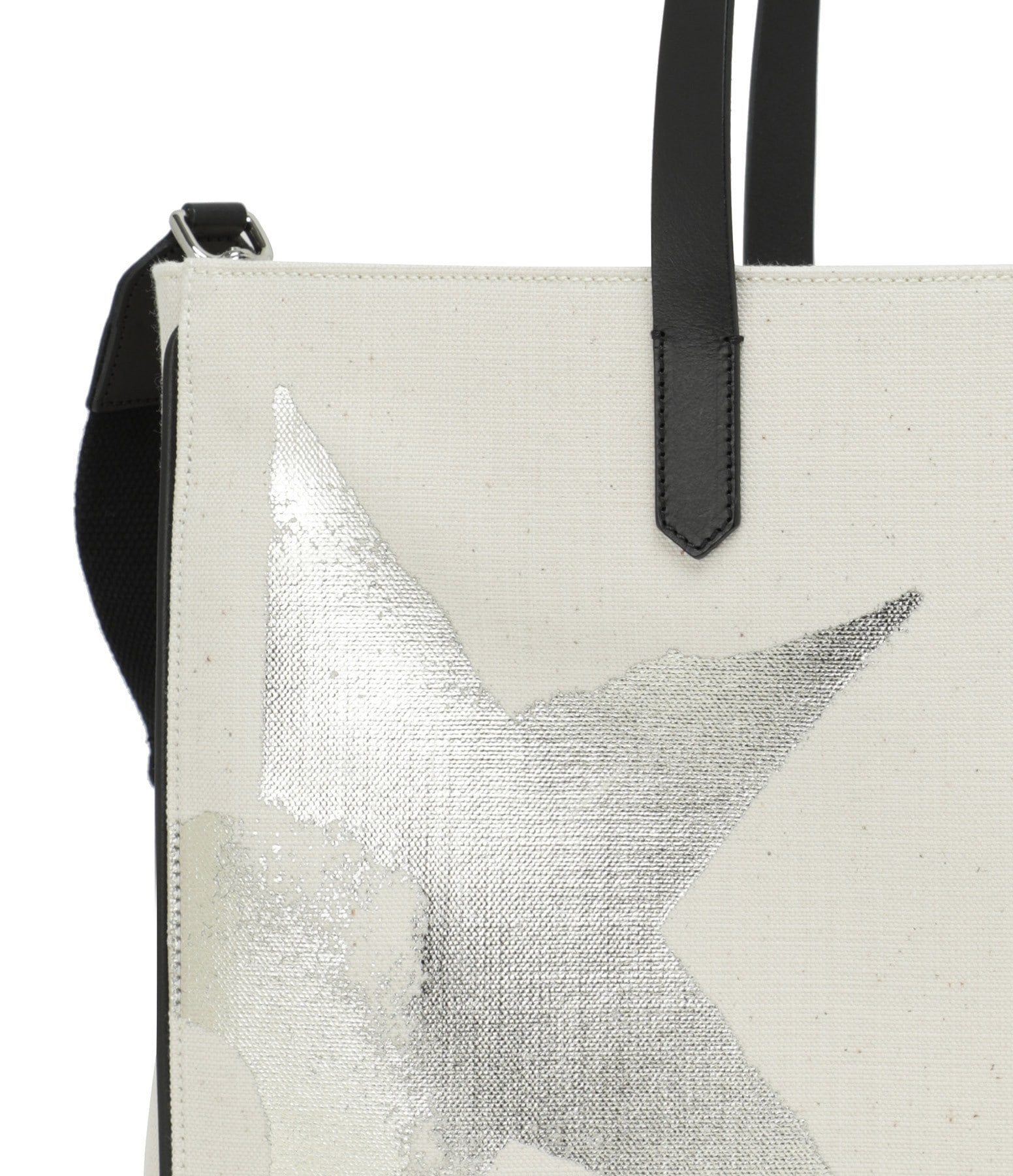 GOLDEN GOOSE - Sac California Golden Star Toile Blanc Doré