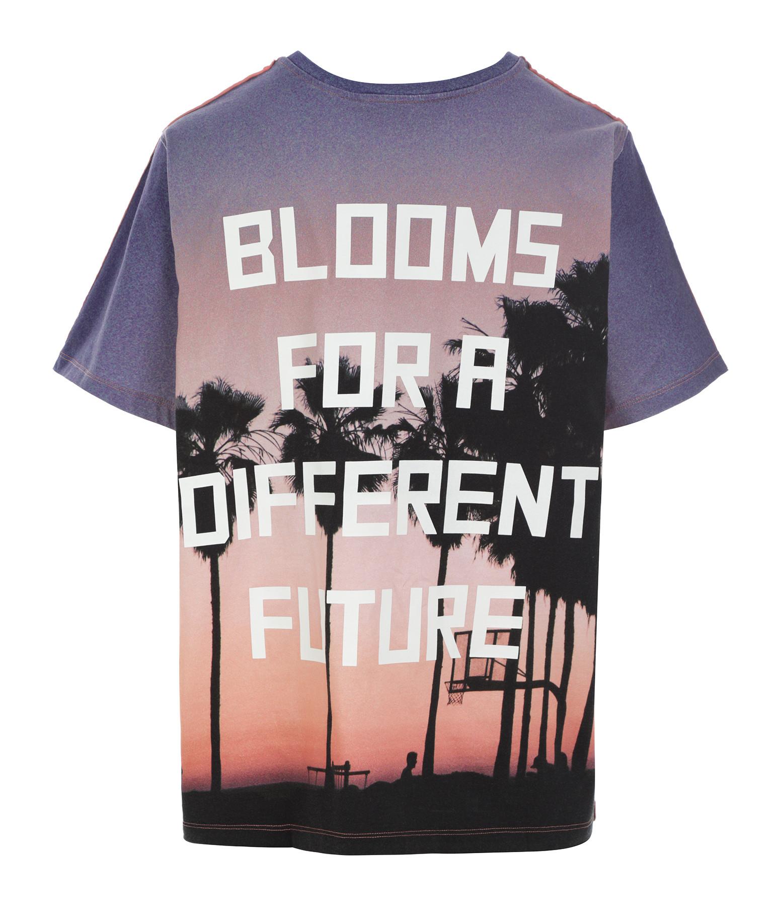 GOLDEN GOOSE - Tee-shirt Aira Blooms Coton Sable Multicolore