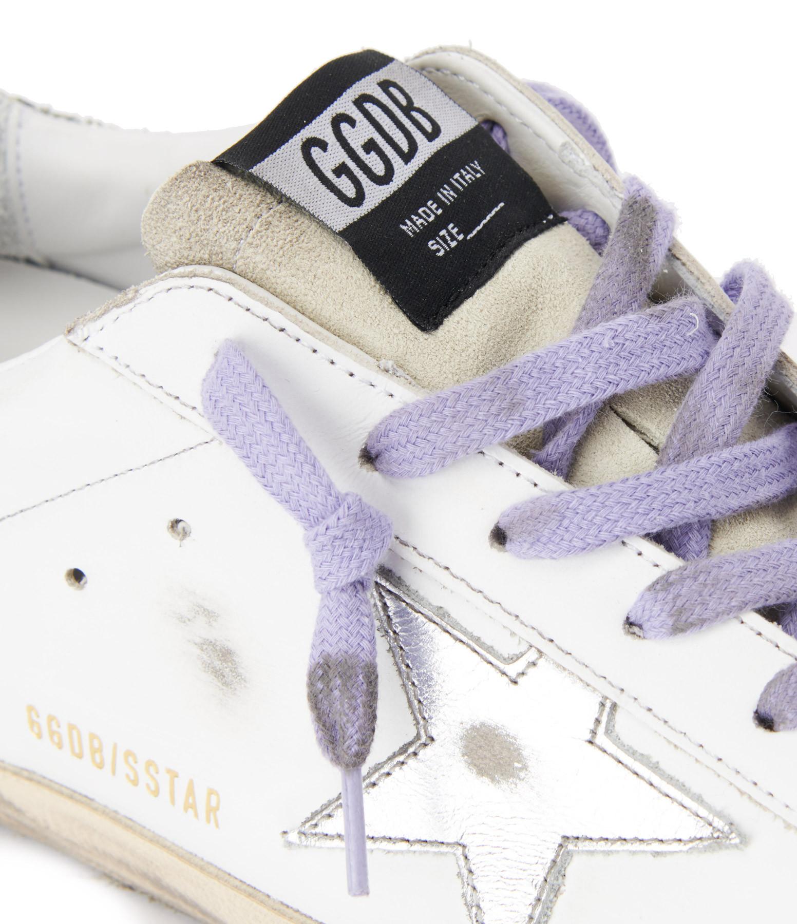 GOLDEN GOOSE - Baskets Superstar Cuir Glitter Blanc